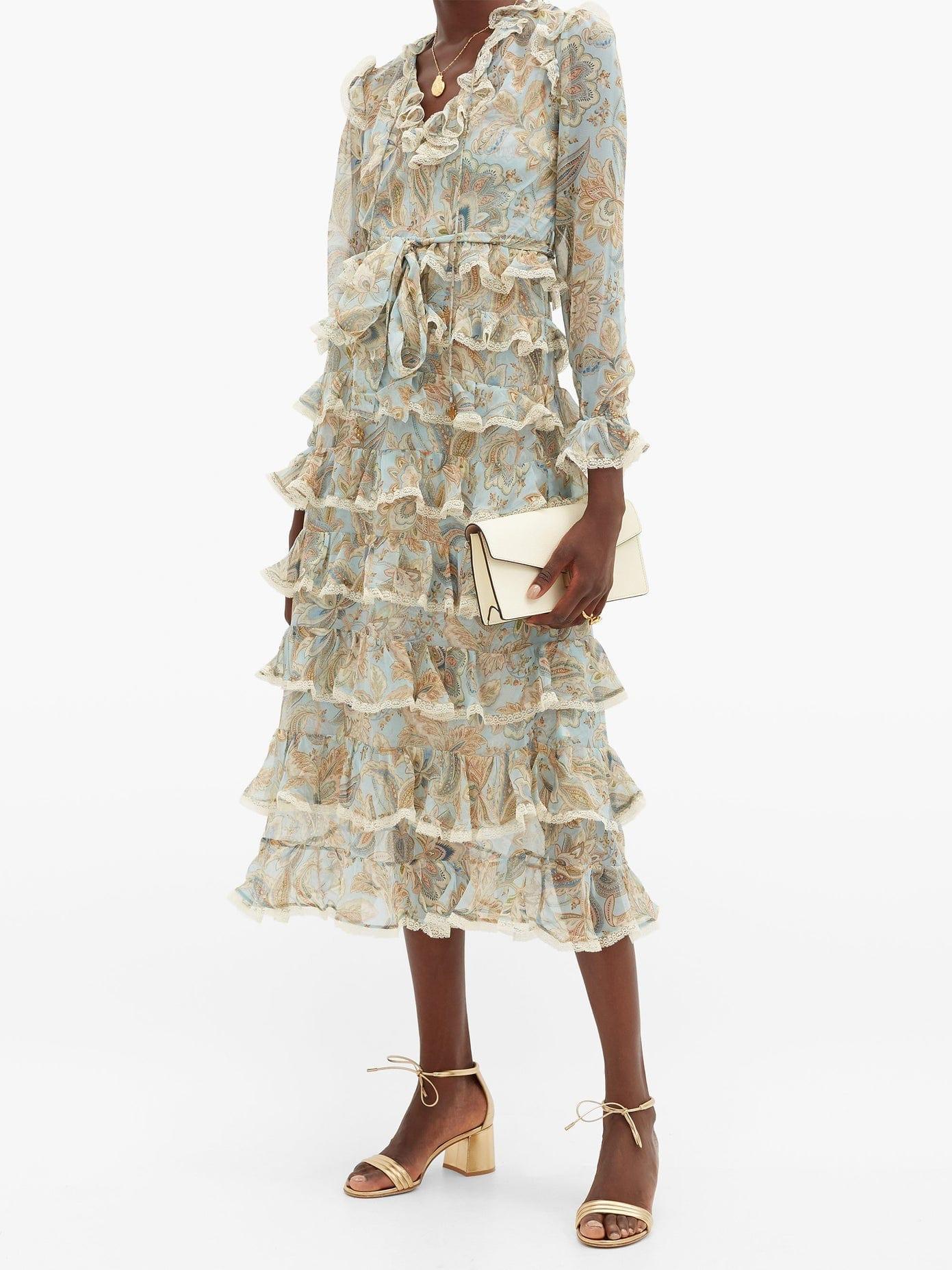ZIMMERMANN Ladybeetle Tiered Paisley-print Silk Dress