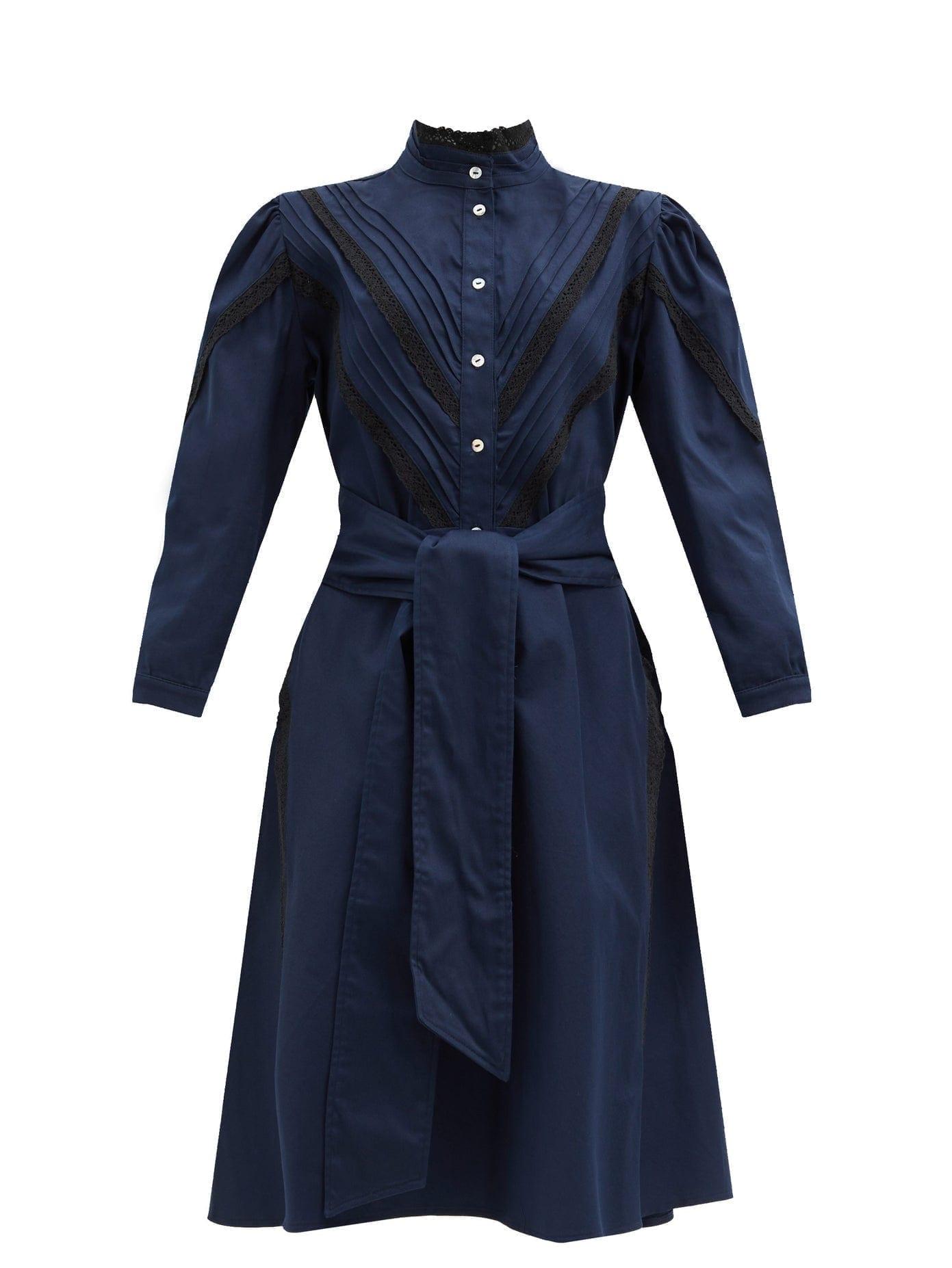 ÀCHEVAL PAMPA Yegua Cotton-blend Crepe Shirt Dress