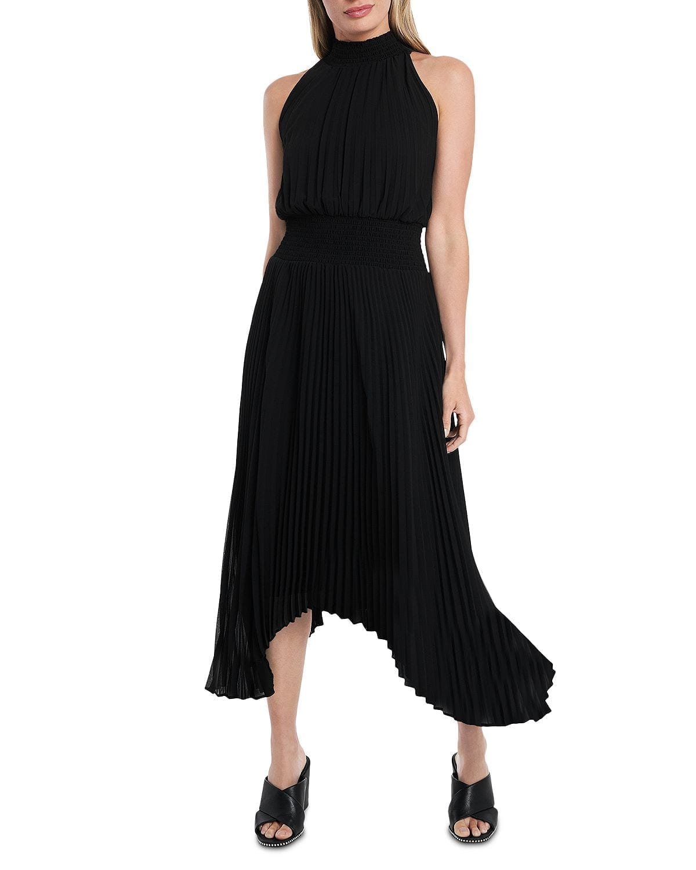 1.STATE Pleated Handkerchief Dress