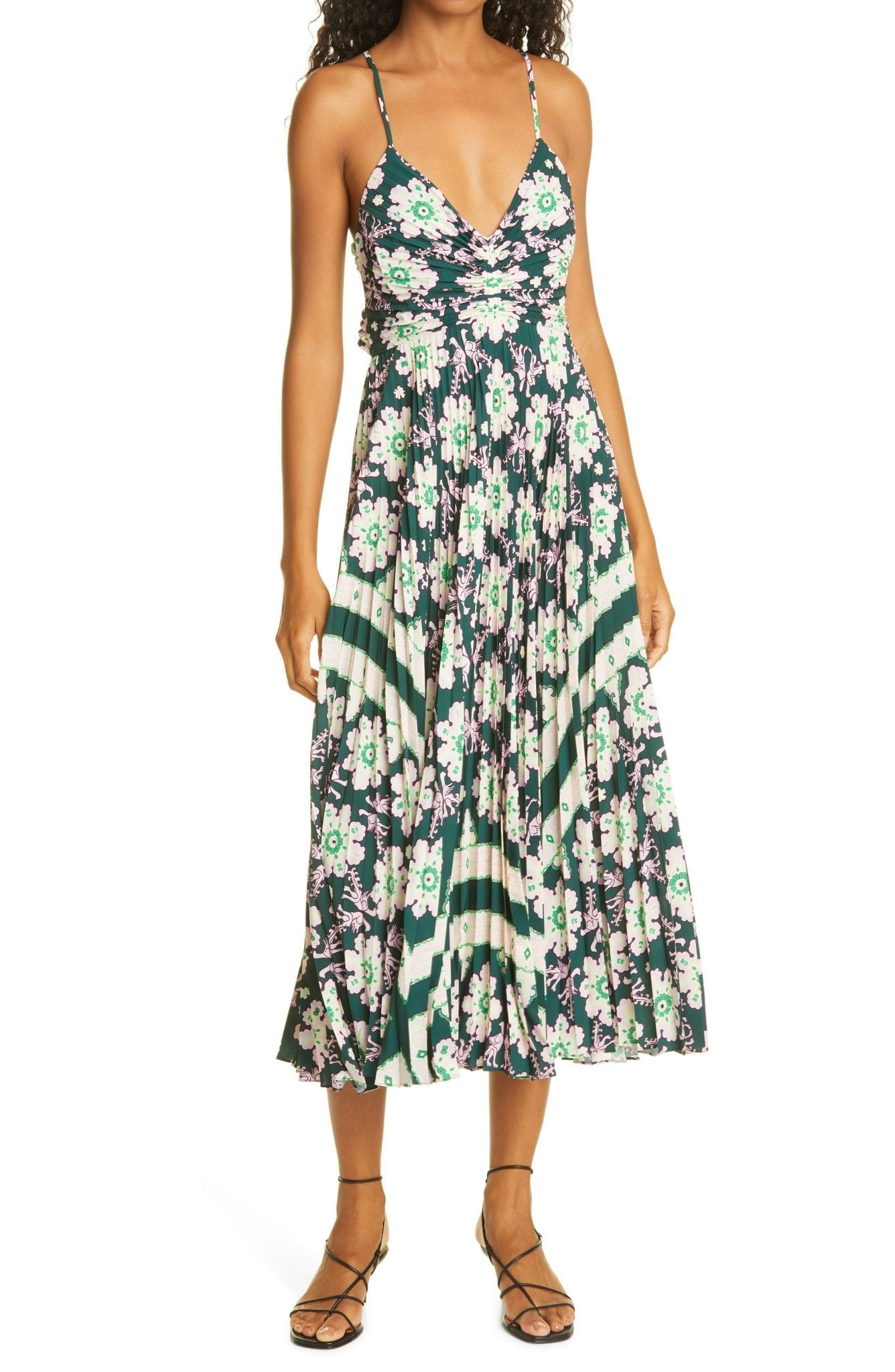 A.L.C. Gemini Print Pleated Dress