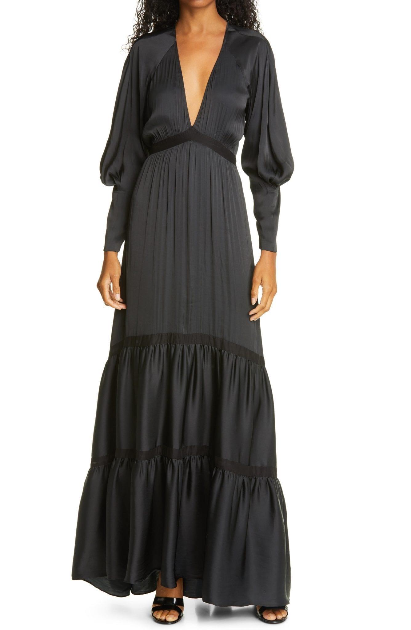A.L.C. Gwyneth Long Sleeve Maxi Dress