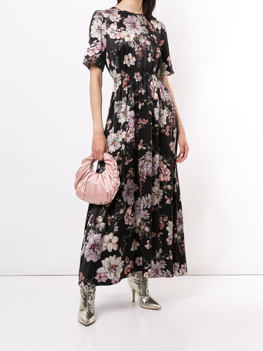 ADAM LIPPES Floral Print Dress
