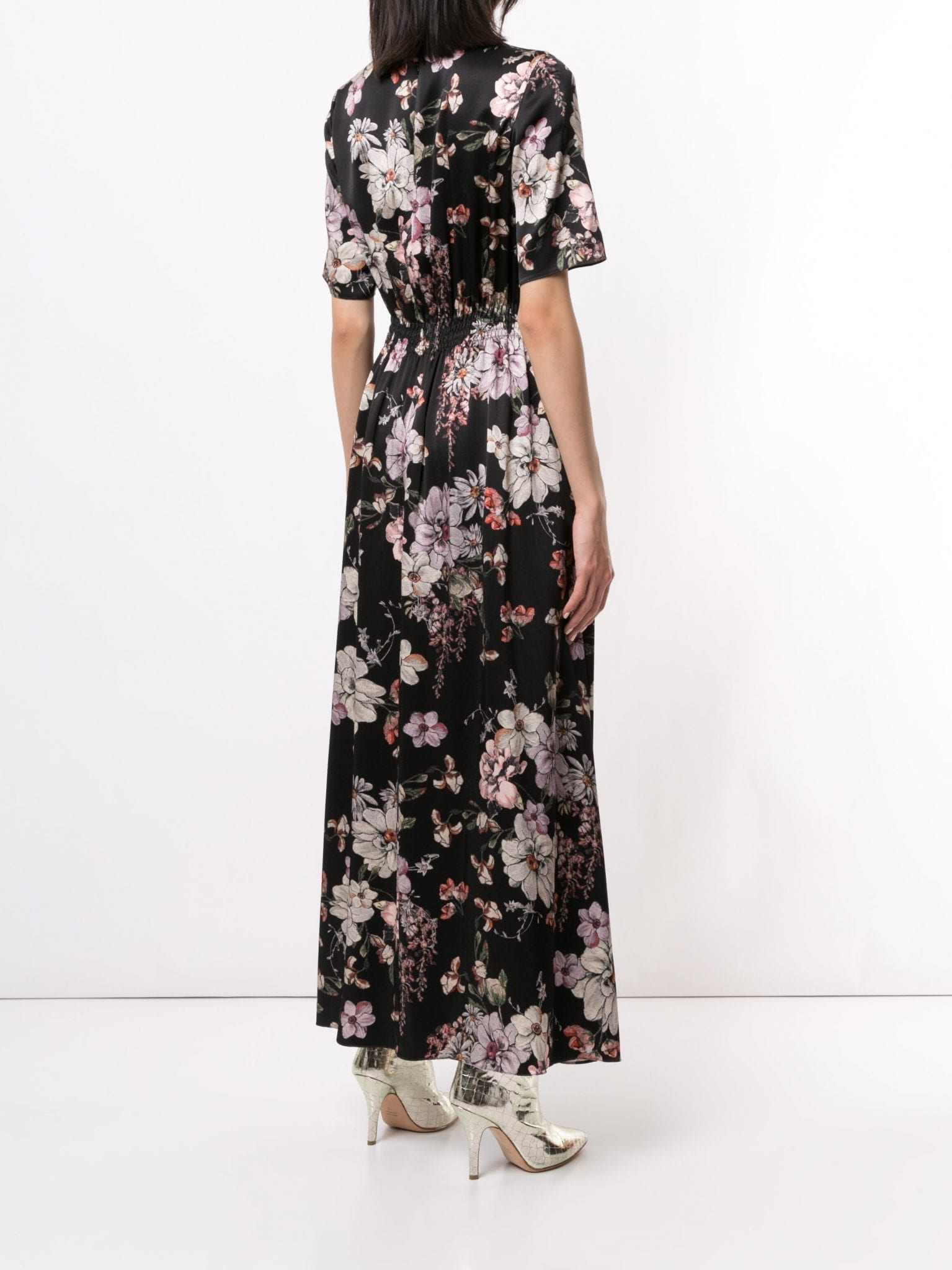 ADAM LIPPES Hand Smocked Waist Gown