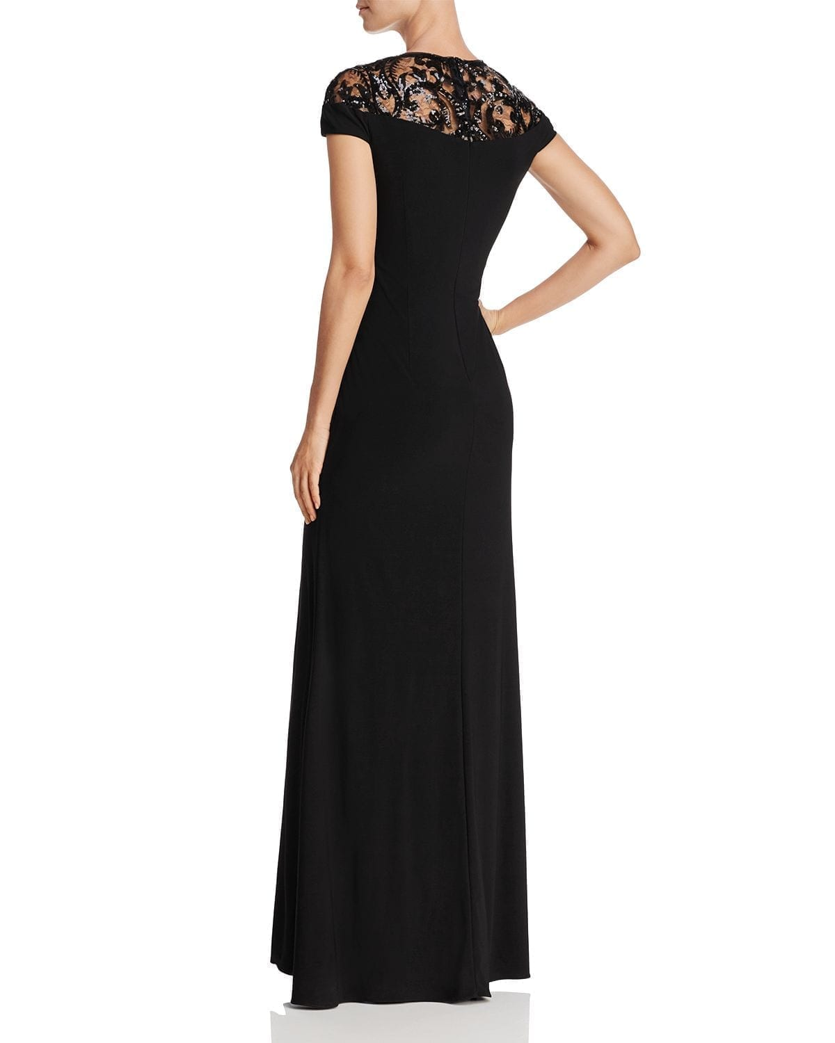ADRIANNA PAPELL Embellished Illusion-Yoke Gown