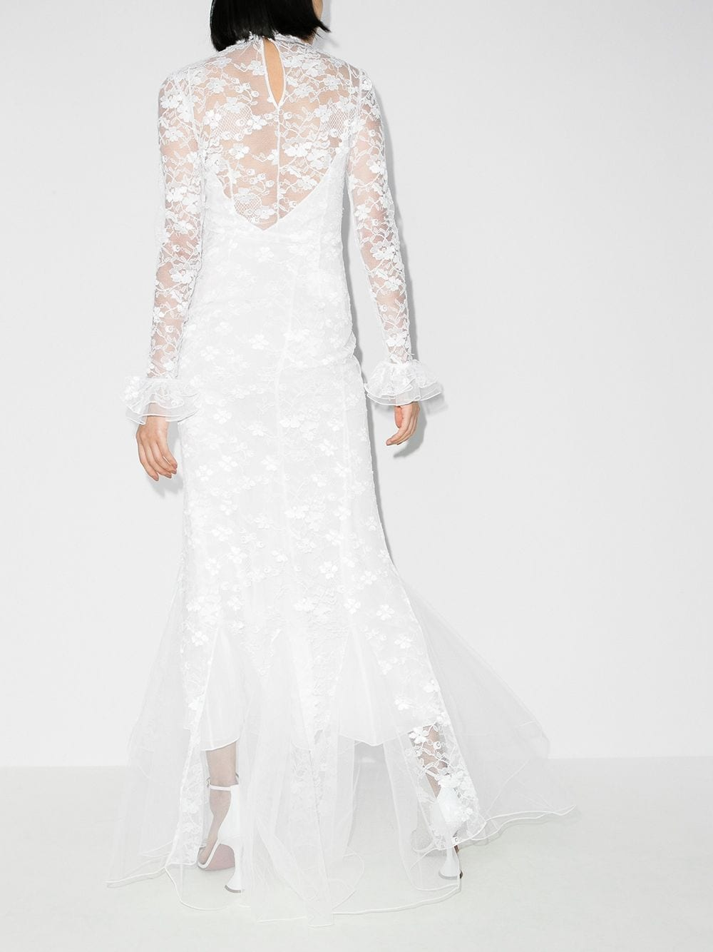ALESSANDRA RICH High-neck Lace Gown