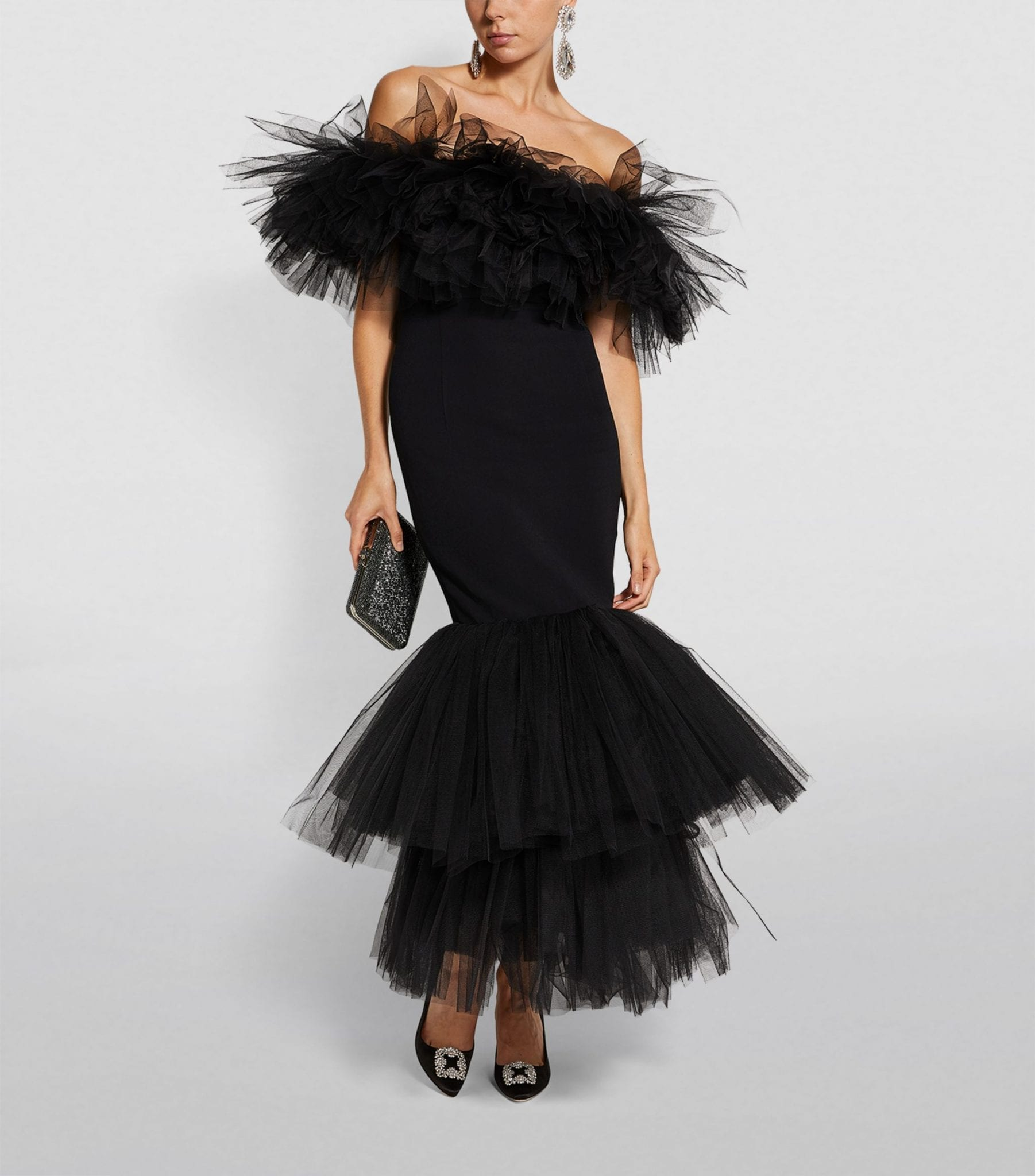 ALESSANDRA RICH Strapless Tulle Dress