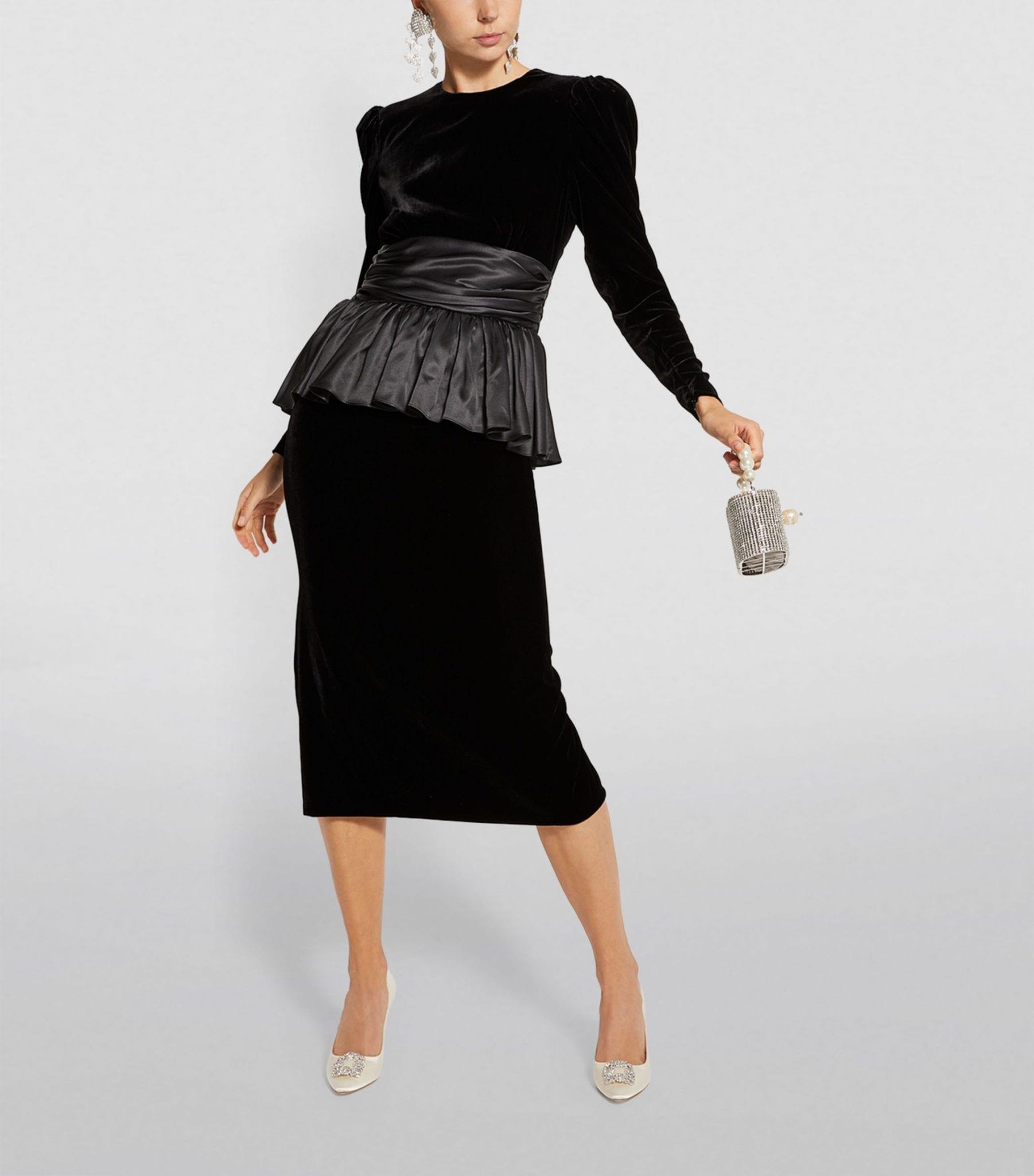 ALESSANDRA RICH Velvet Dress
