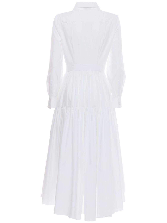 ALEXANDER MCQUEEN Cotton Poplin Shirt Midi Dress