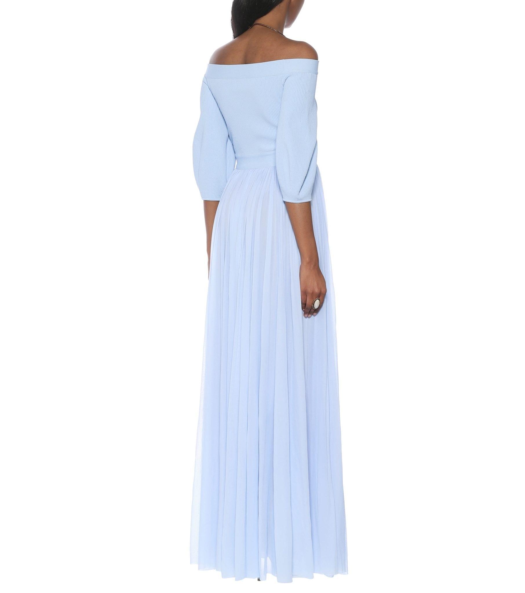 ALEXANDER MCQUEEN Off-shoulder Jersey Maxi Dress