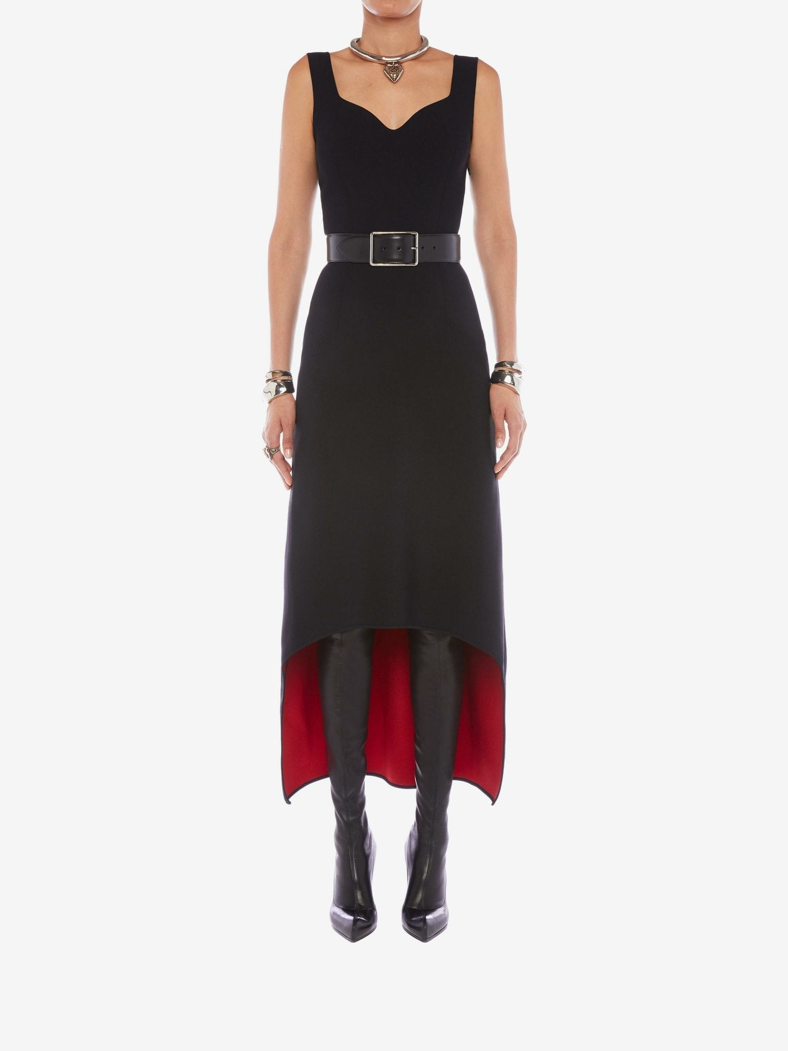 ALEXANDER MCQUEEN Sculptural Knit Dress