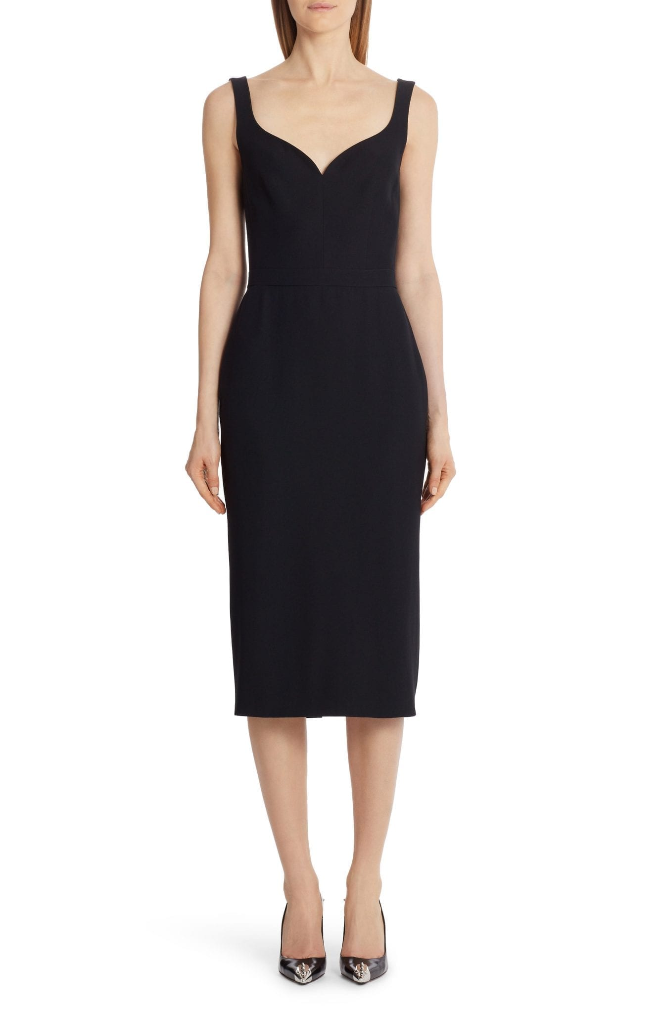 ALEXANDER MCQUEEN Sweetheart Pencil Cocktail Dress