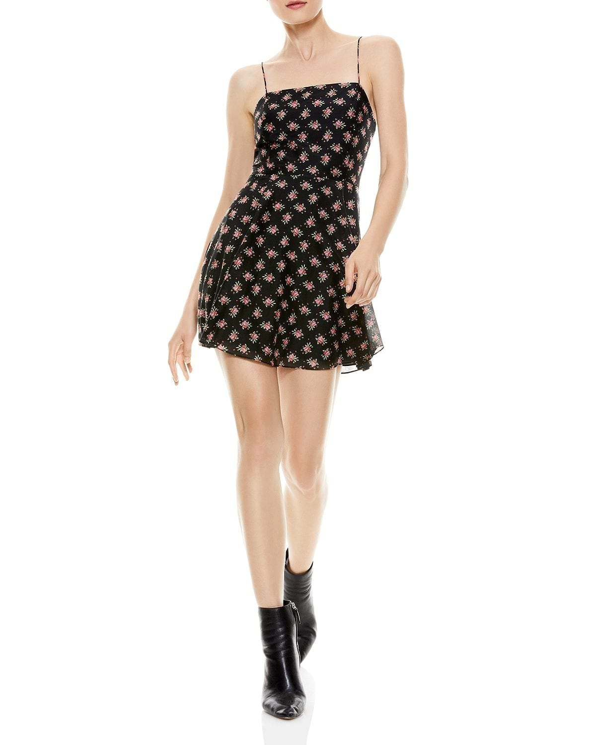 ALICE AND OLIVIA Glinda Floral-Print Mini Dress