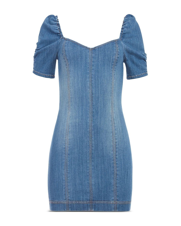 ALICE AND OLIVIA Mimi Denim Short Sleeve Dress