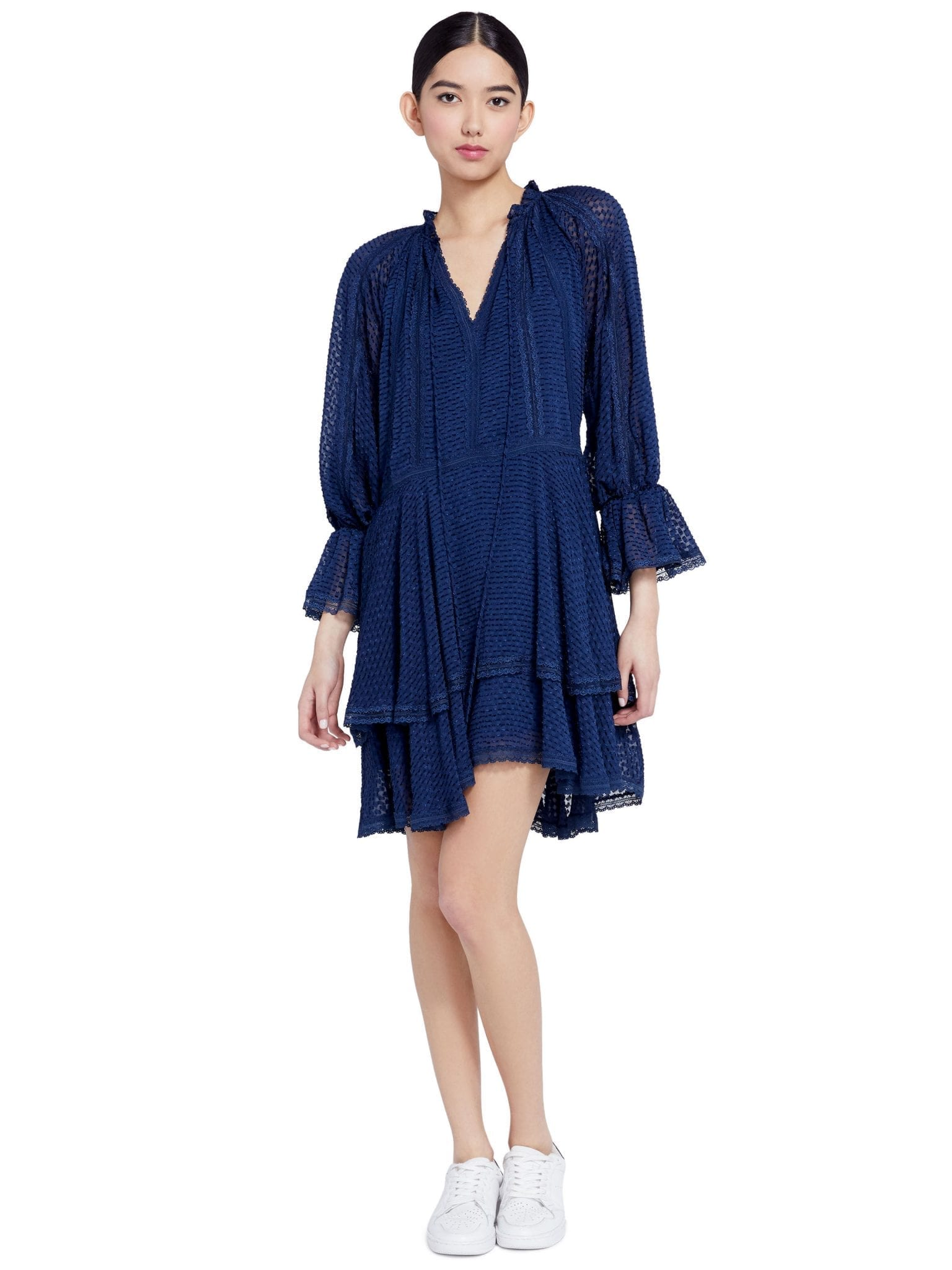 ALICE + OLIVIA Joanne Handkerchief Mini Dress