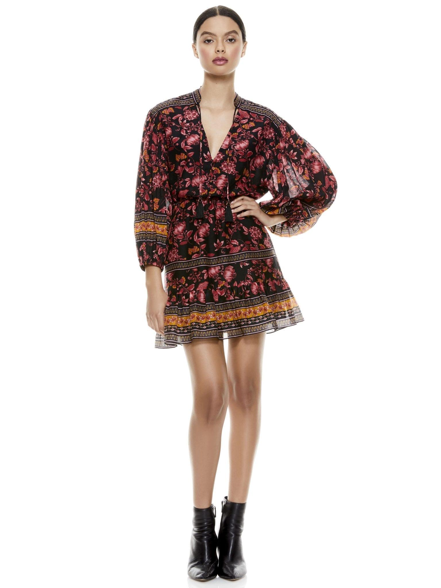 ALICE + OLIVIA Sedona Floral Mini Dress