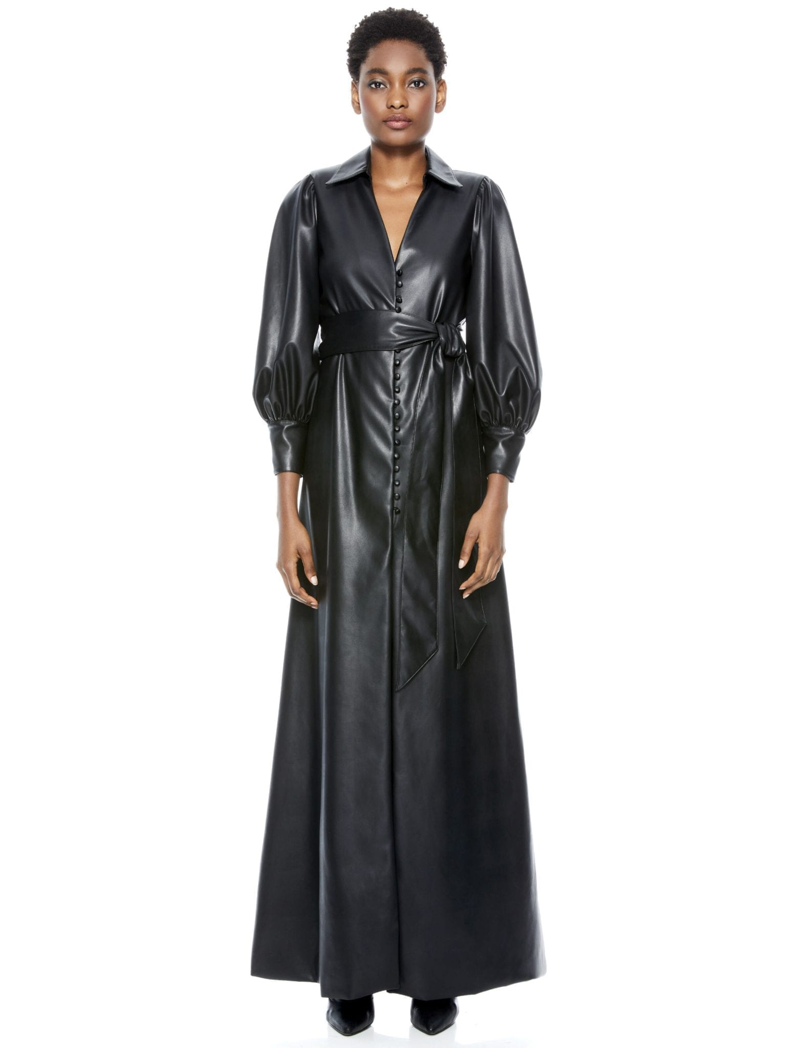 ALICE + OLIVIA Zarita Vegan Leather Maxi Dress