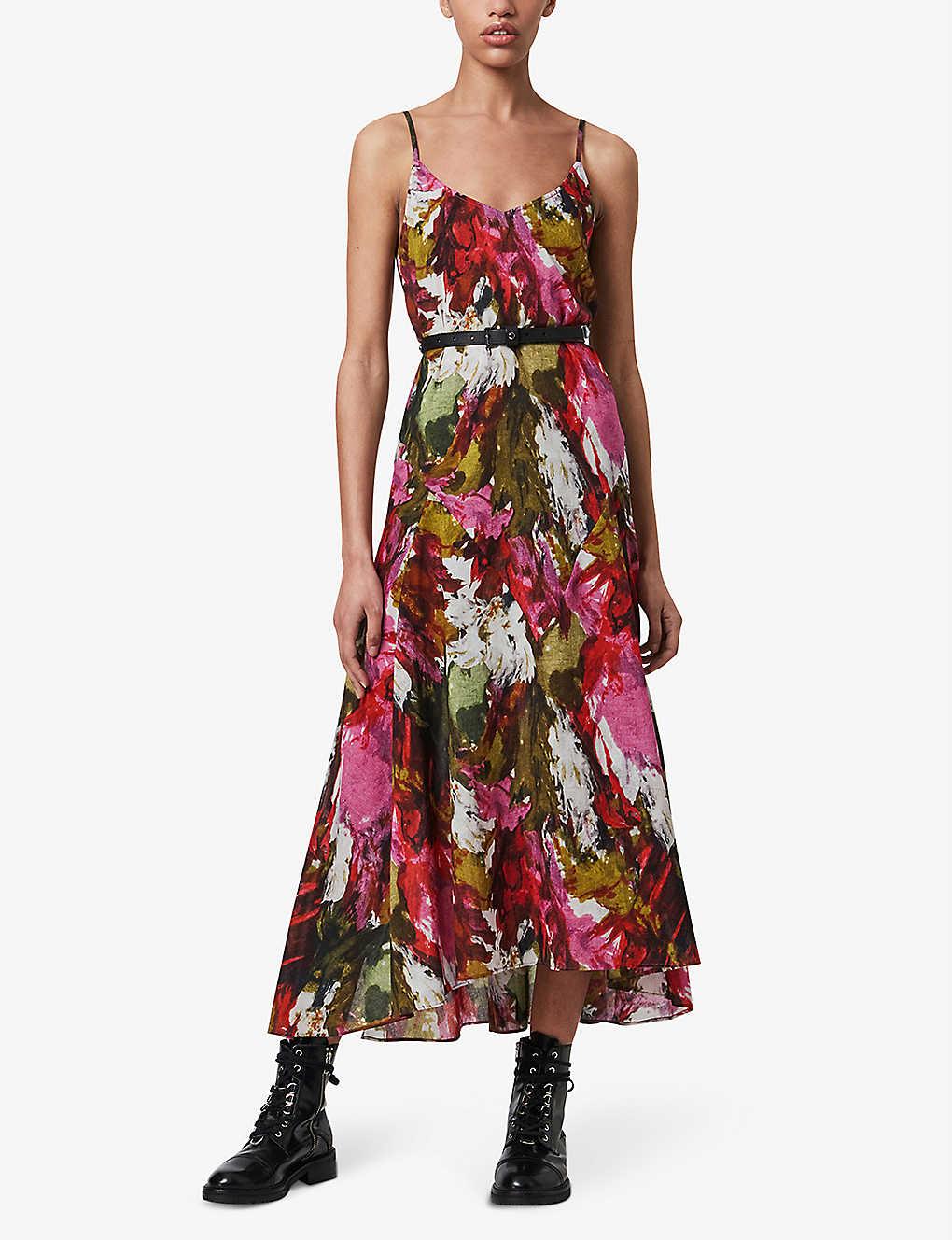 ALLSAINTS Essie Expressive Floral Cotton Maxi Dress