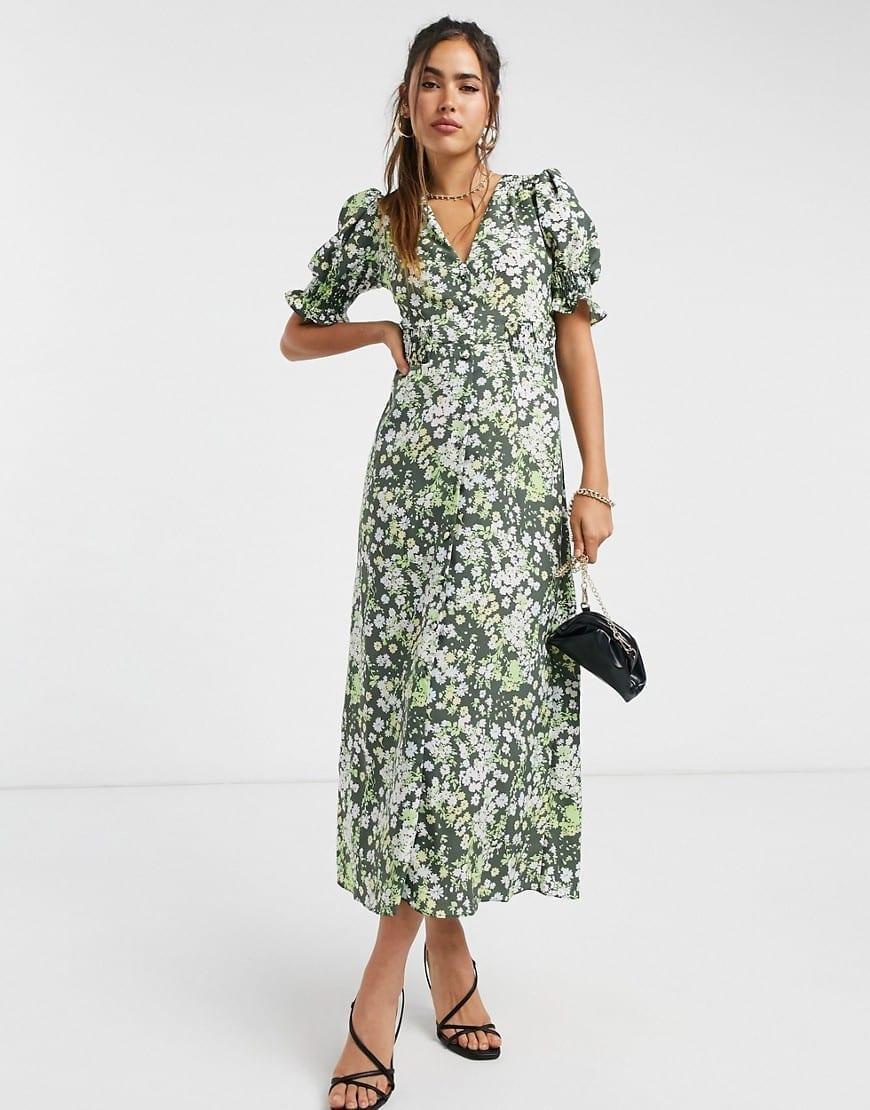ASOS DESIGN Button Through Maxi Tea Dress