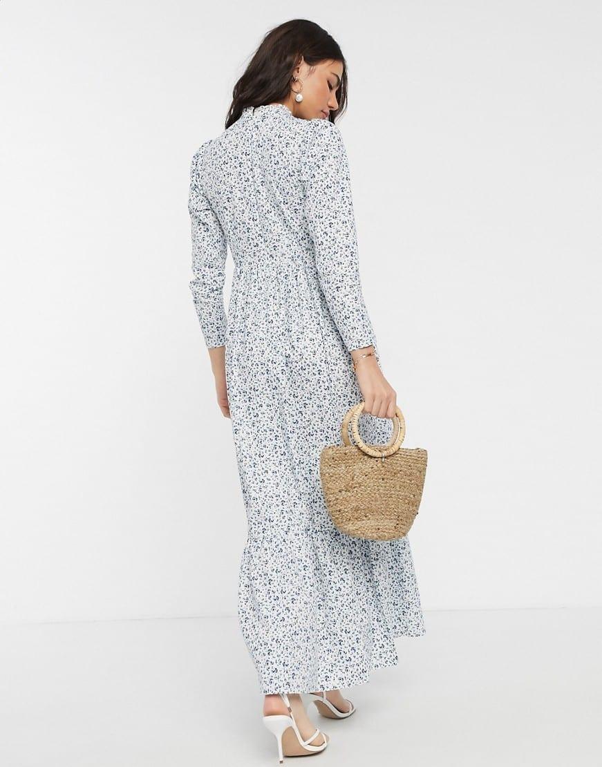 ASOS DESIGN Cotton Poplin Tiered Maxi Dress