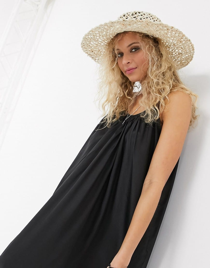 ASOS DESIGN Tiered Maxi Beach Dress