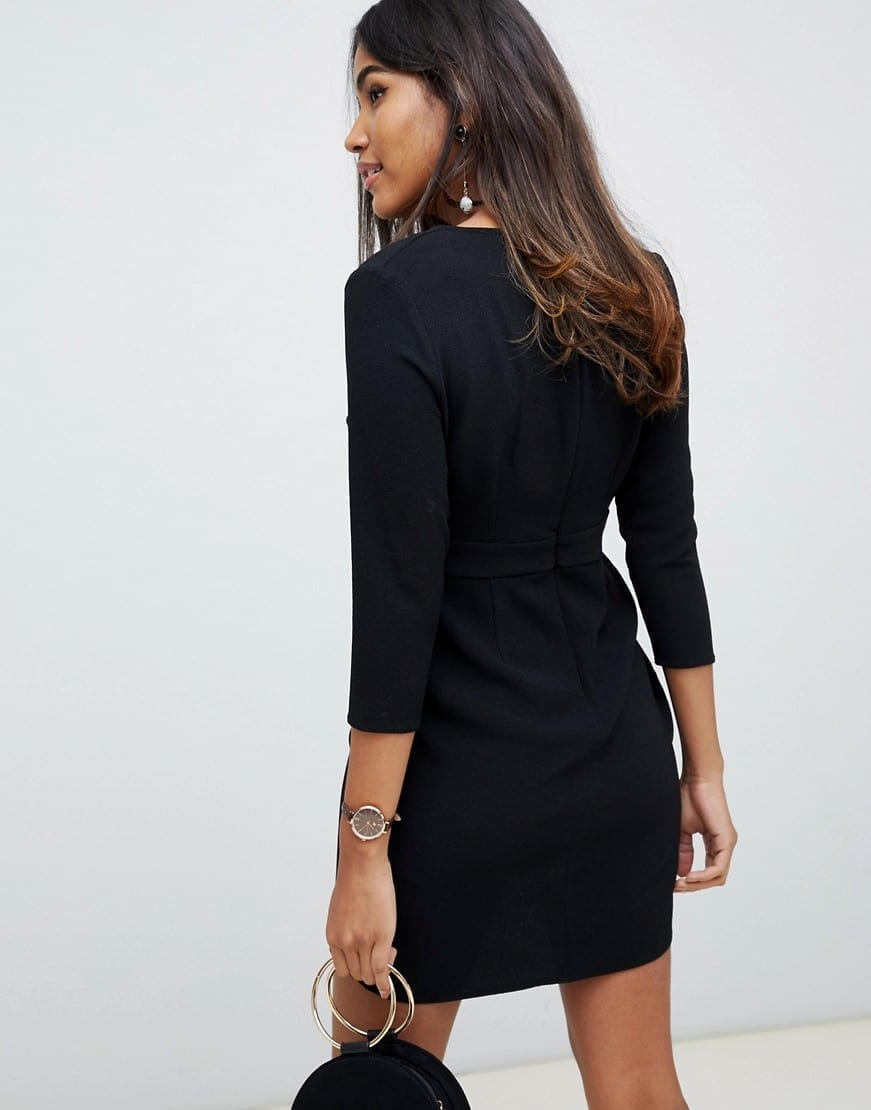 ASOS DESIGN Wrap Skirt Mini Dress