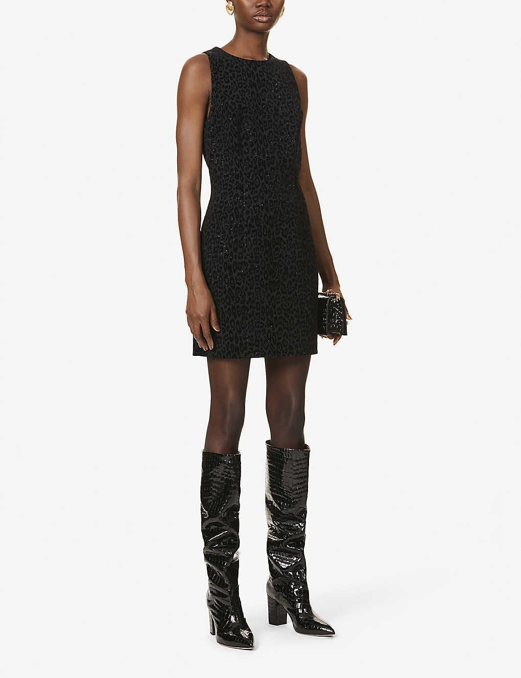 BALMAIN Glittery Stretch-jacquard Mini Dress