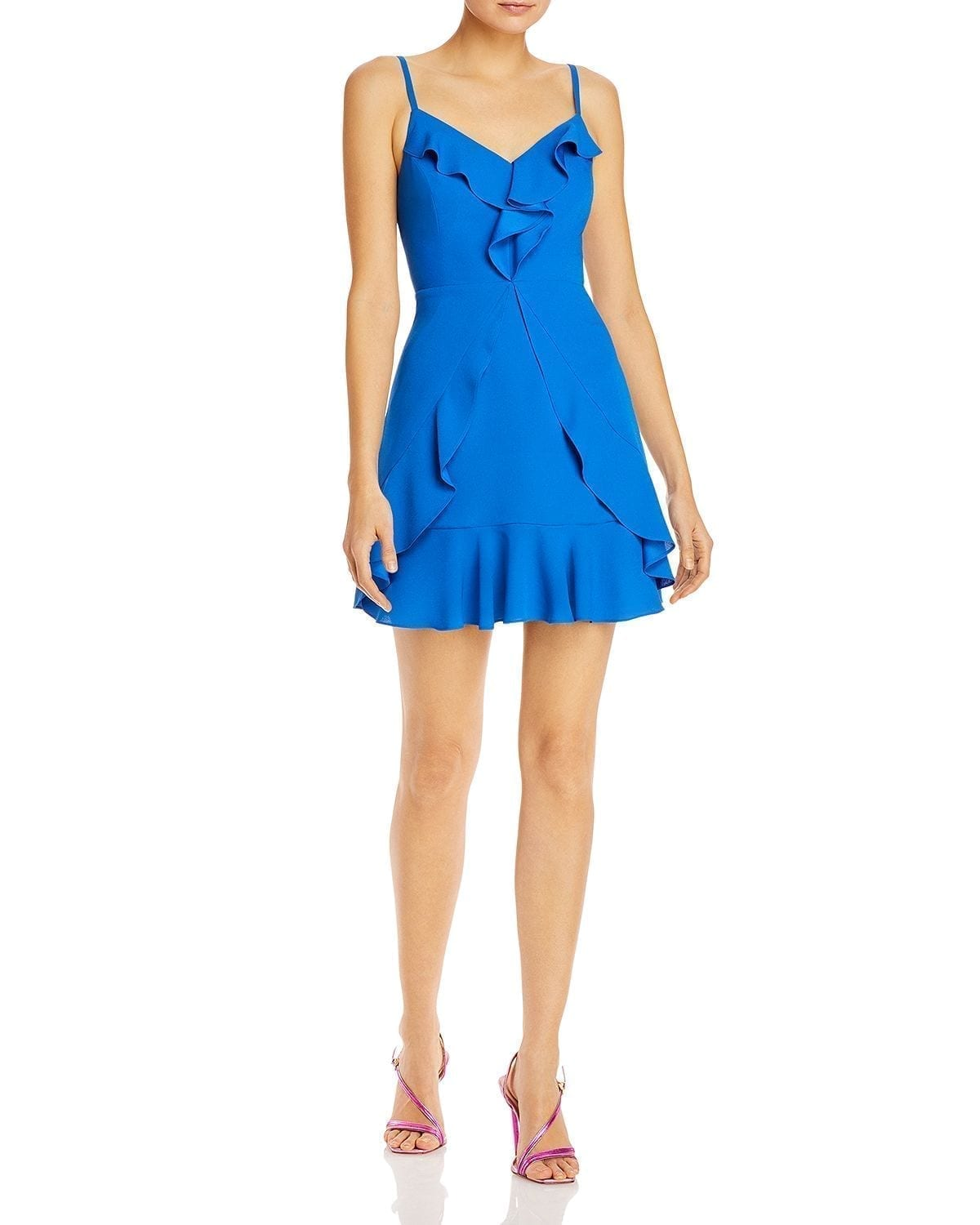 BCBGMAXAZRIA Ruffled Mini Dress
