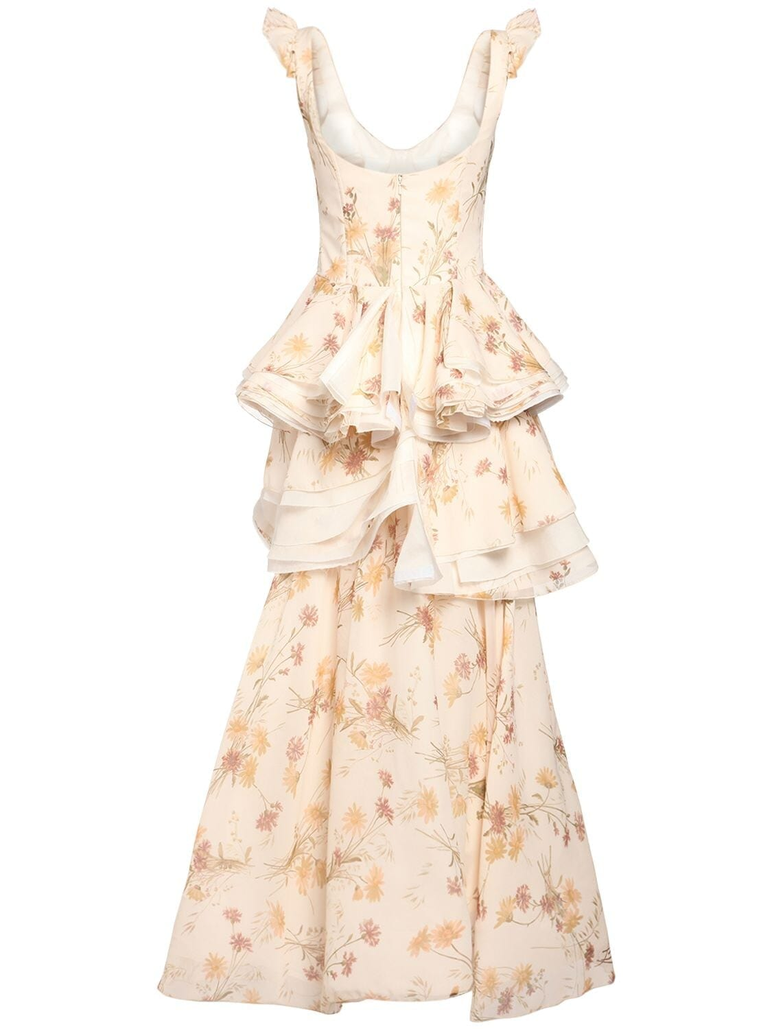 BROCK COLLECTION Printed Silk Georgette Gown