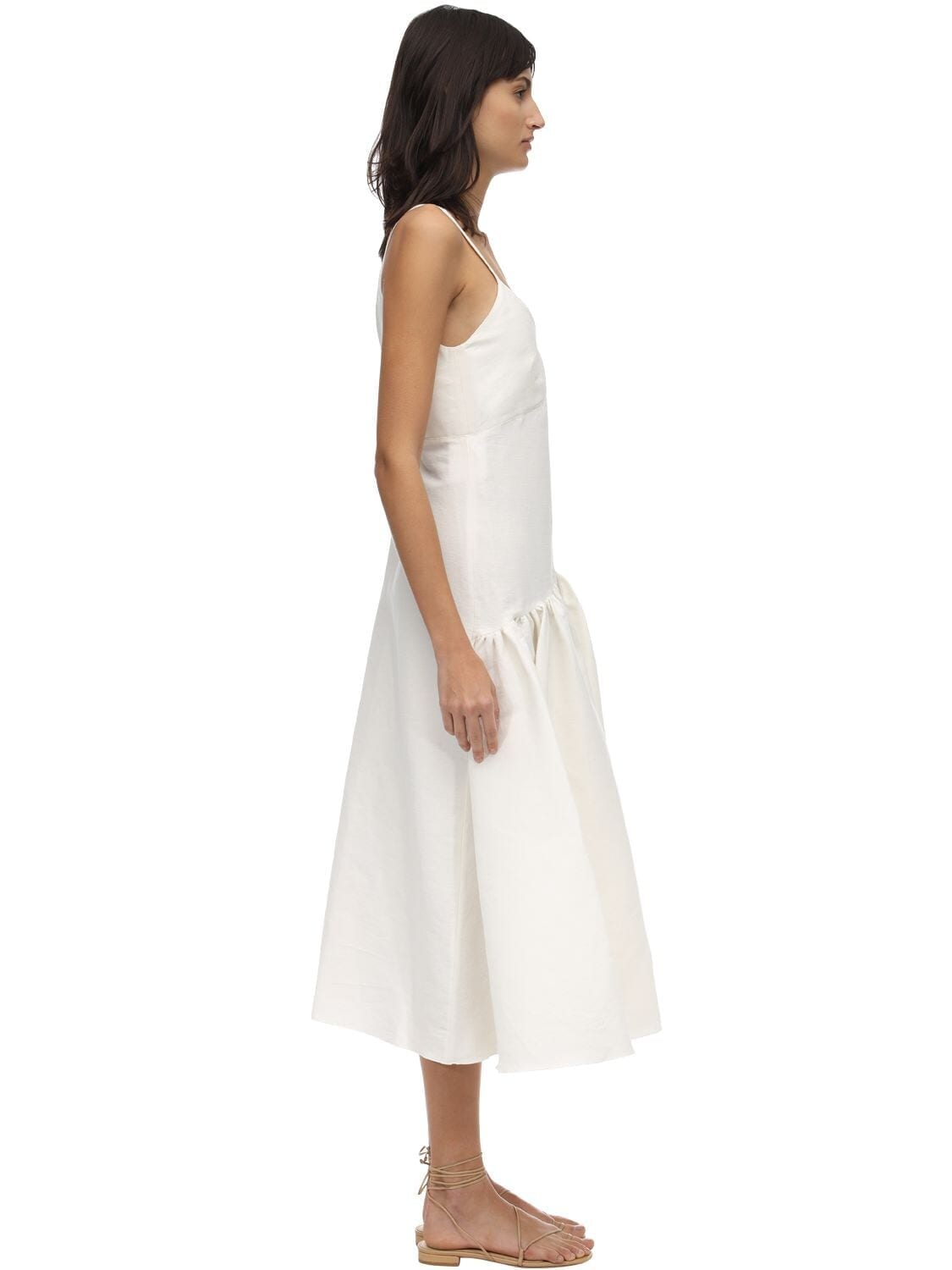 CAFTANII Maya Linen Midi Dress