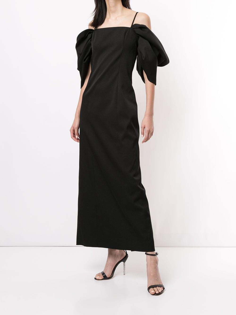 CAROLINA HERRERA Draped Puff Sleeves Dress 1