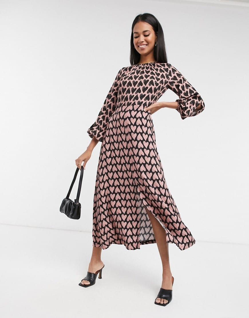 CLOSET London Long Sleeve Midaxi Dress