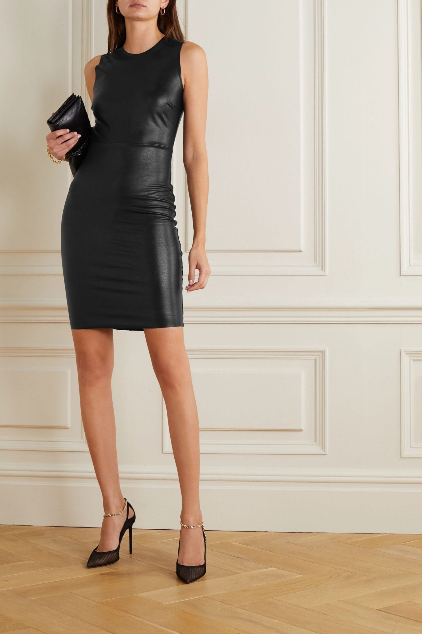 COMMANDO Stretch Faux Leather Mini Dress