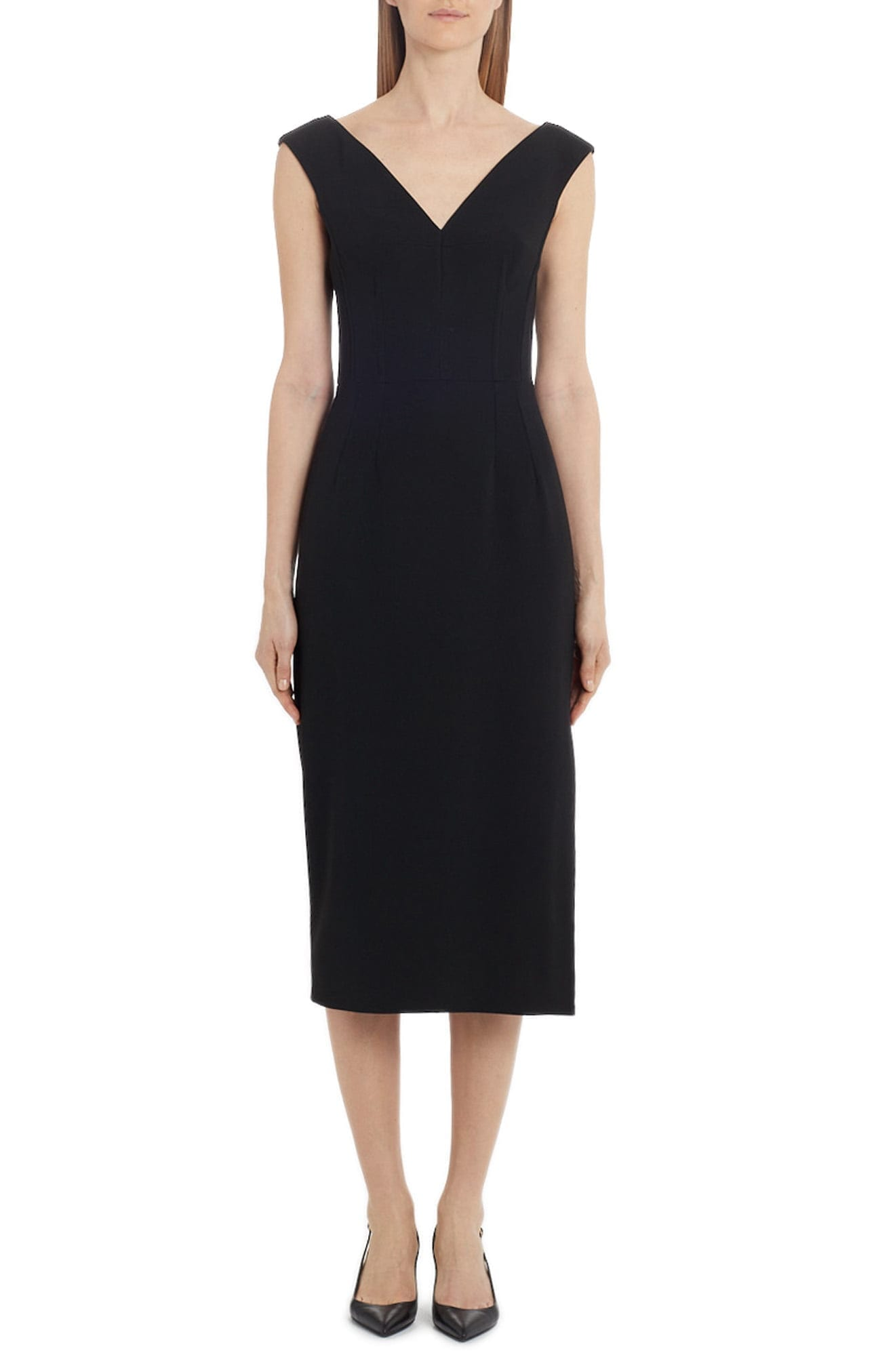 DOLCE&GABBANA Stretch Crepe Midi Sheath Dress