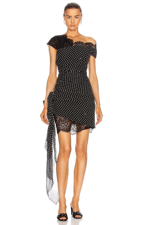 DUNDAS Lace Details Mini Dress