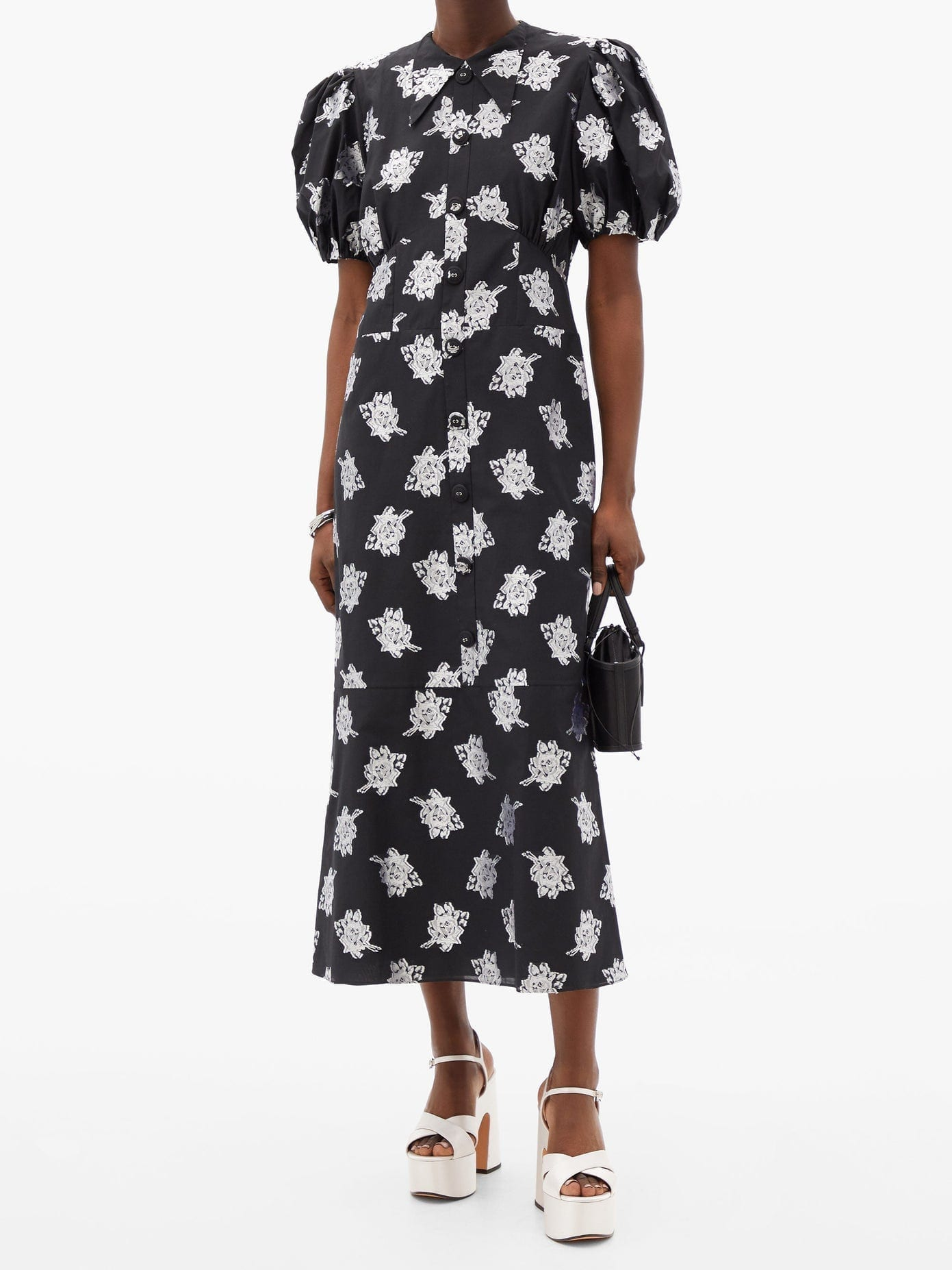 ERDEM Antonetta Floral Fil-coupé Jacquard Dress