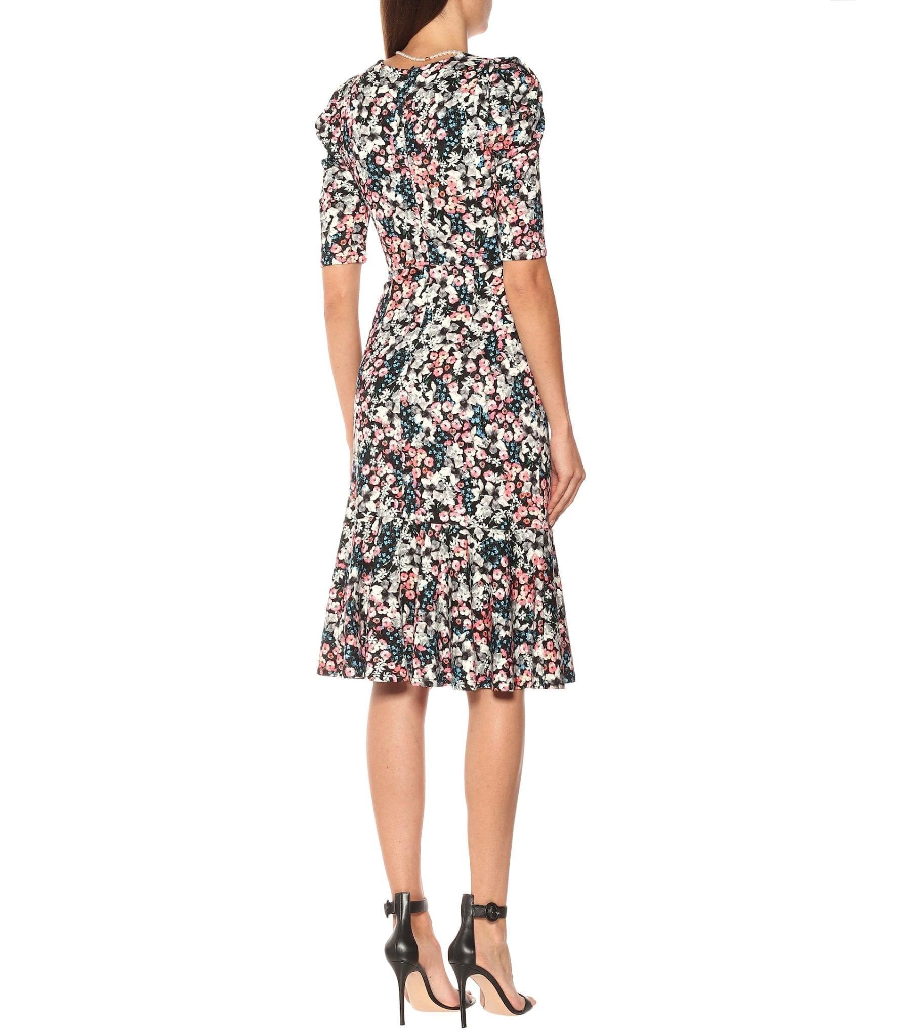 ERDEM Ottavia Floral Jersey Midi Dress