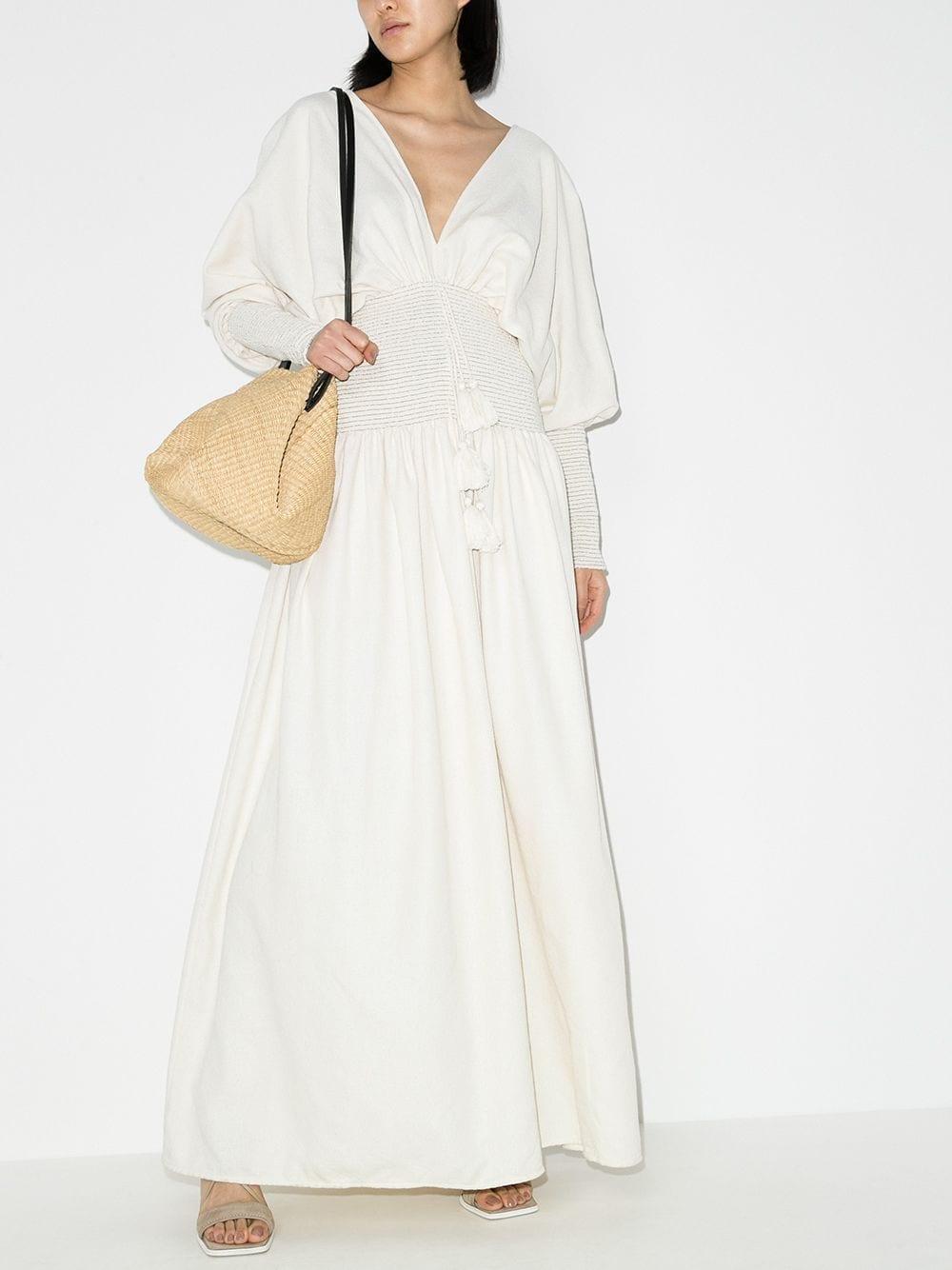 ESCVDO Sana Smocked Maxi Dress
