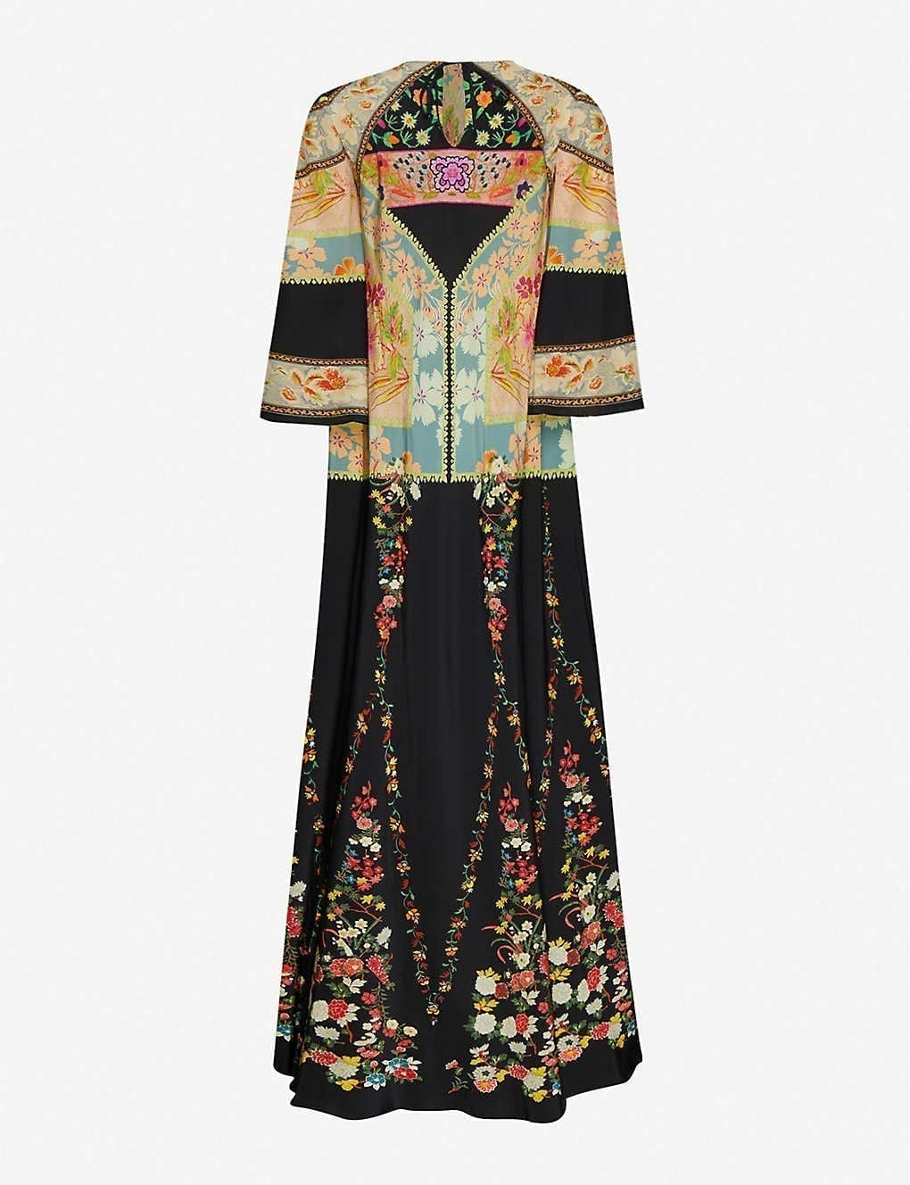 ETRO Floral-print Silk Maxi Dress