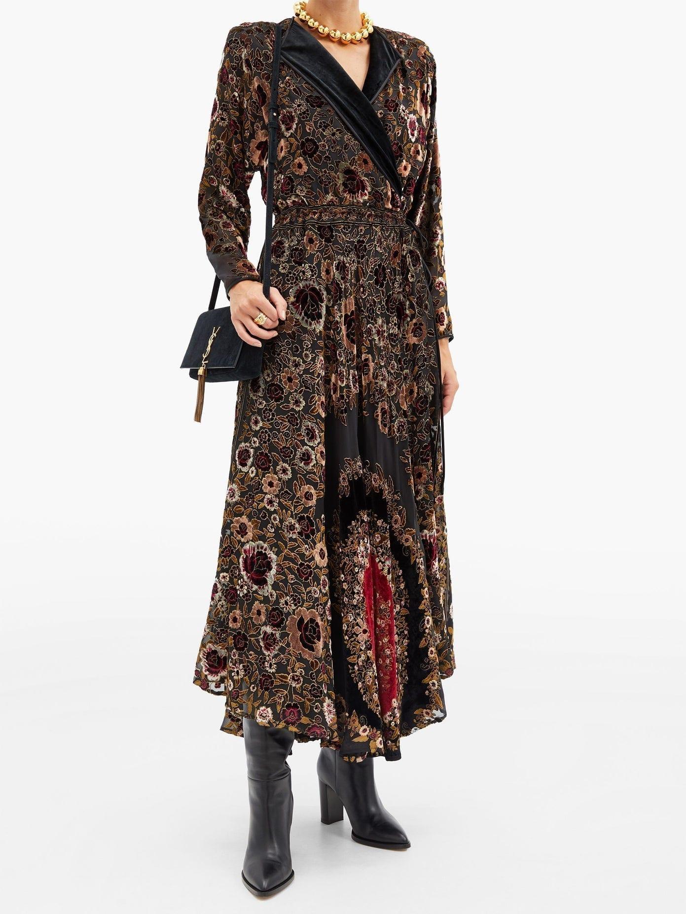 ETRO Jaca Floral Devoré-velvet Wrap Dress