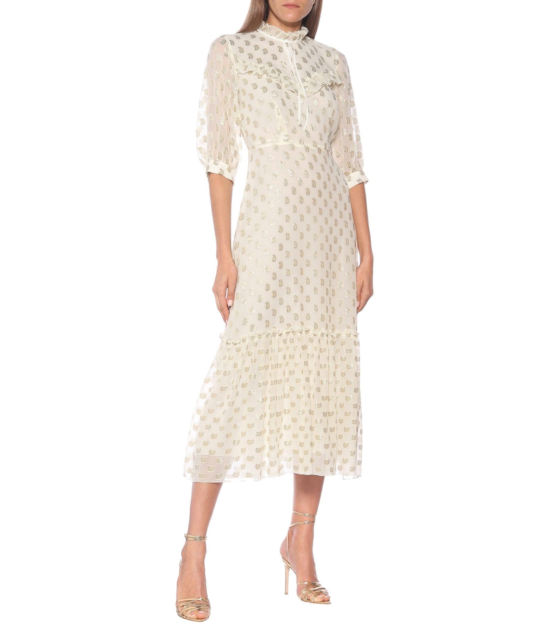 ETRO Paisley Fil Coupé Silk Maxi Dress