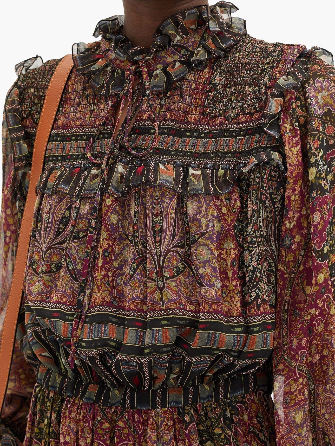 ETRO Paisley-print Silk-georgette Longline Dress
