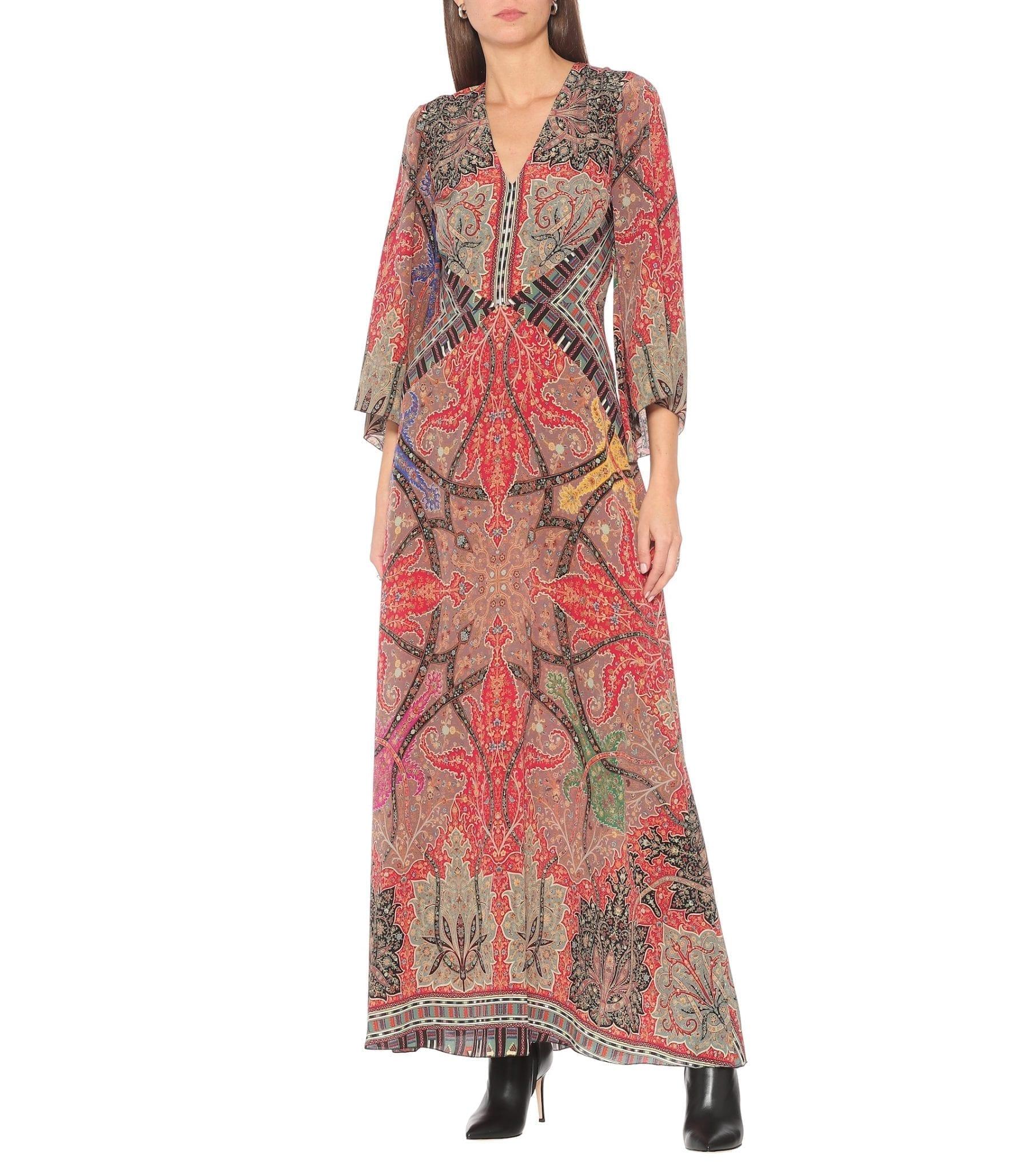 ETRO Printed Silk Georgette Gown