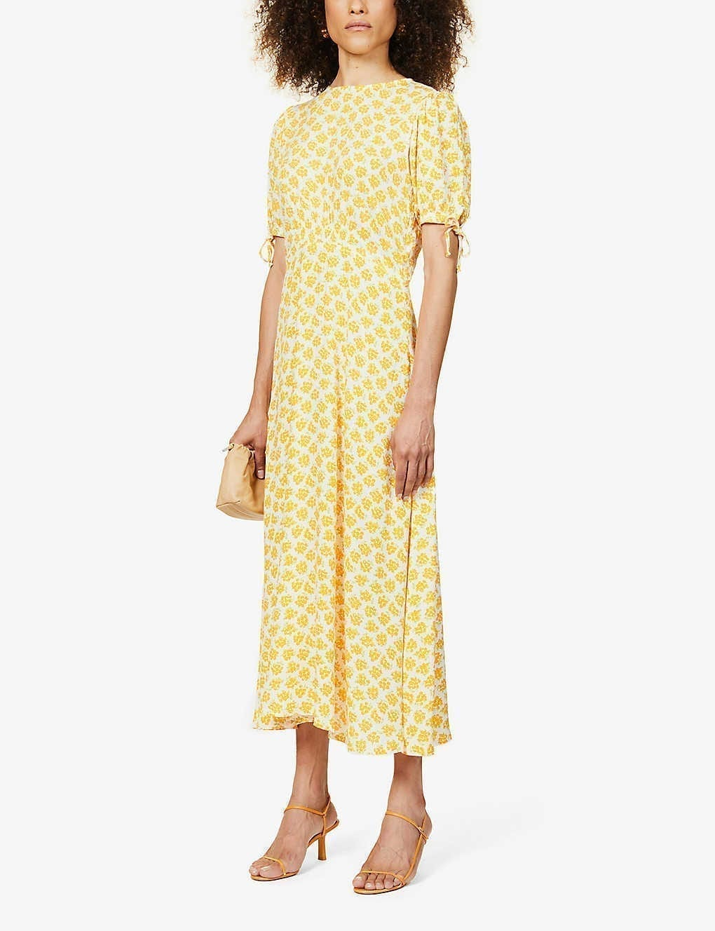 FAITHFULL THE BRAND Brida Floral-Print Woven Midi Dress