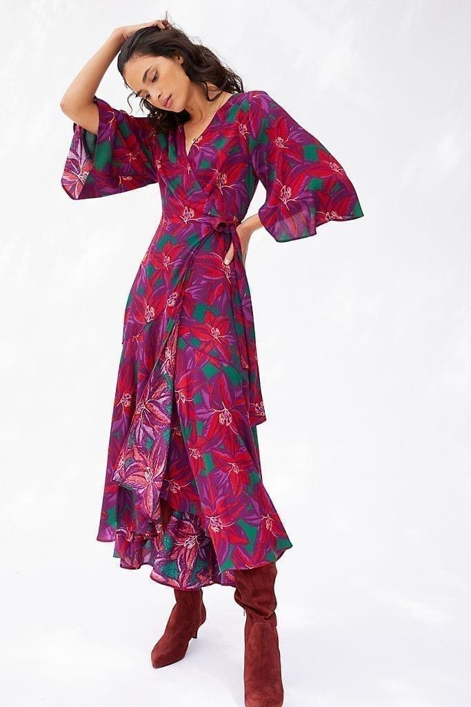 FARM RIO Farm Rio Vieques Wrap Maxi Dress