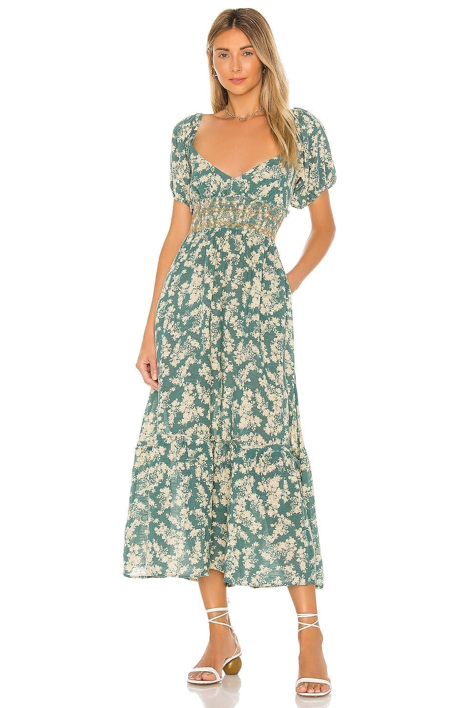 Tigerlily Bouquet Floral Maxi Dress in Navy   DAILYLOOK