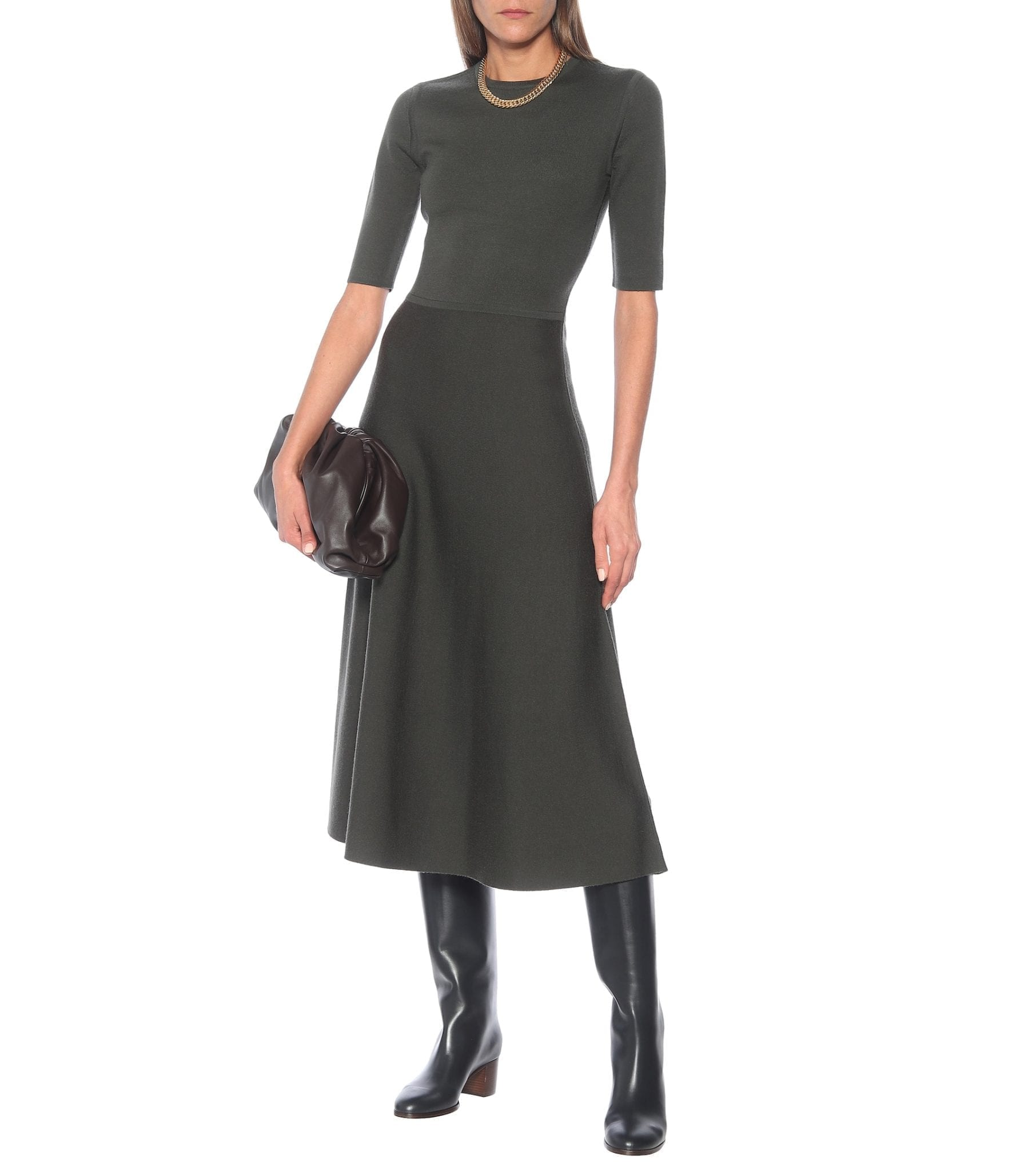 GABRIELA HEARST Geneva Wool-blend Midi Dress