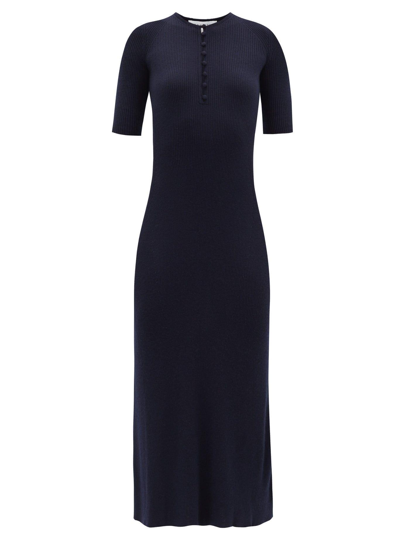 GABRIELA HEARST Johanna Ribbed Cashmere-blend Knitted Dress