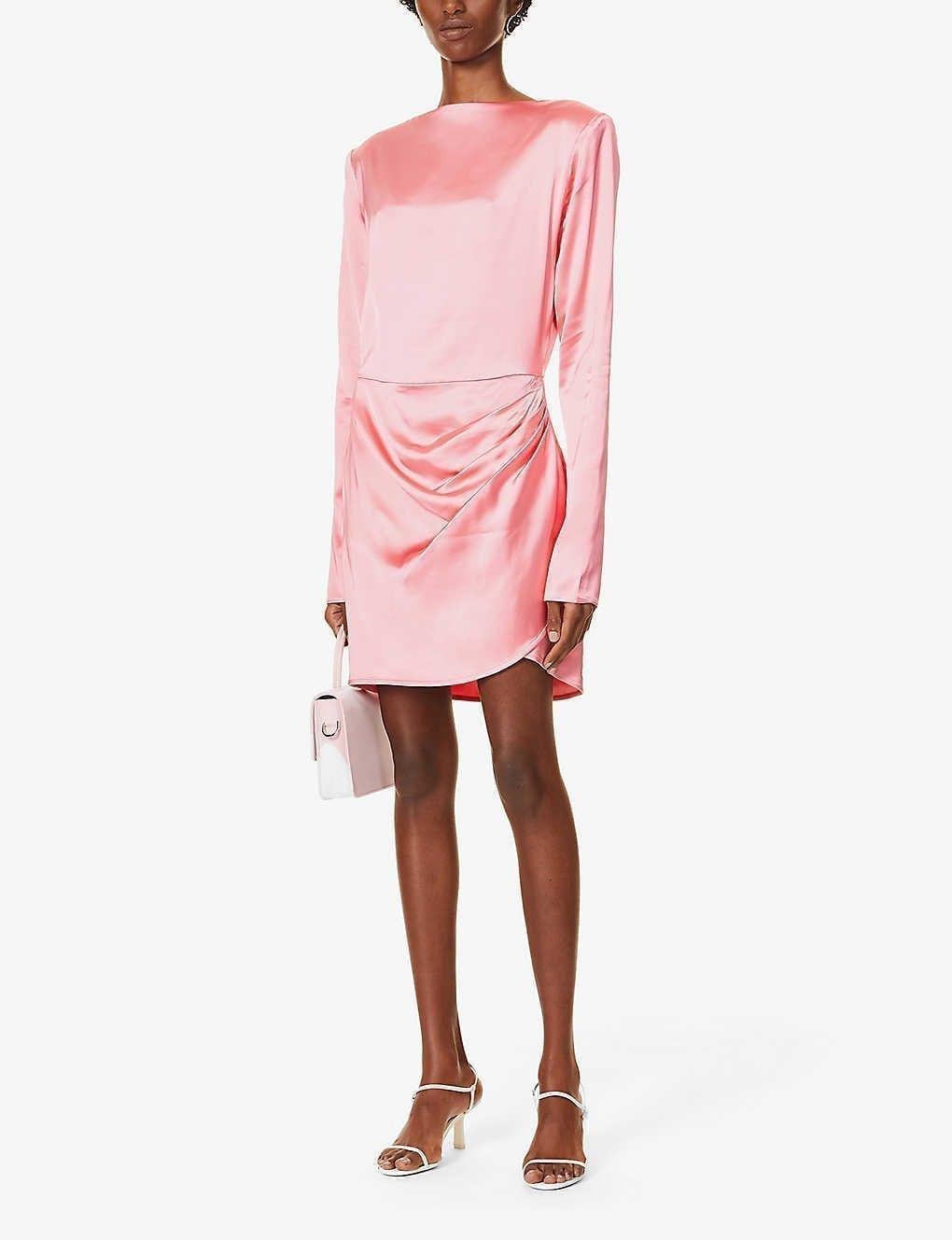 GAUGE81 Barbosa Ruched Satin-twill Mini Dress