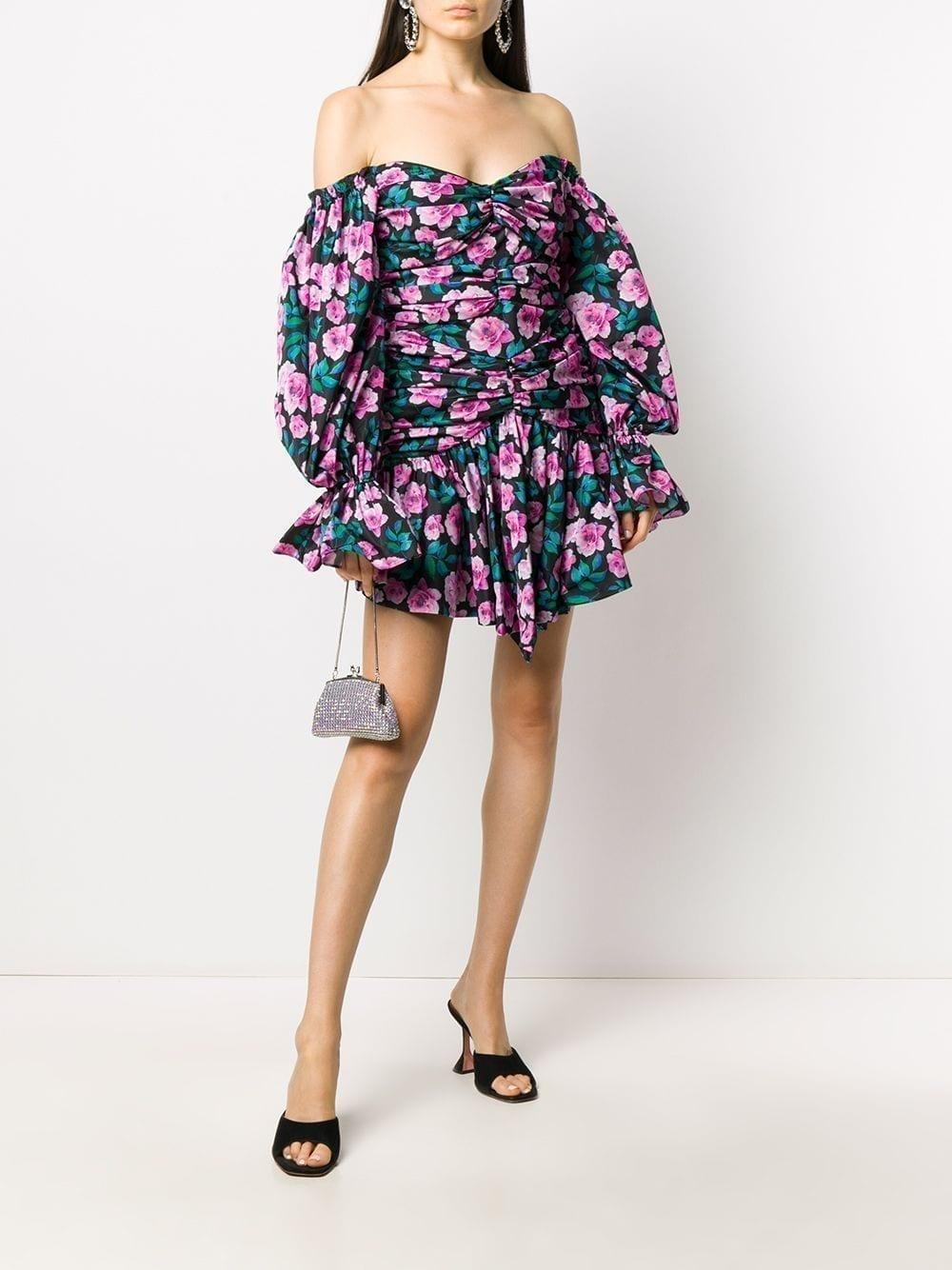 GIUSEPPE DI MORABITO Off-shoulder Floral Print Dress