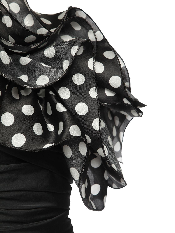 GIUSEPPE DI MORABITO One-shoulder Ruched Taffeta Mini Dress